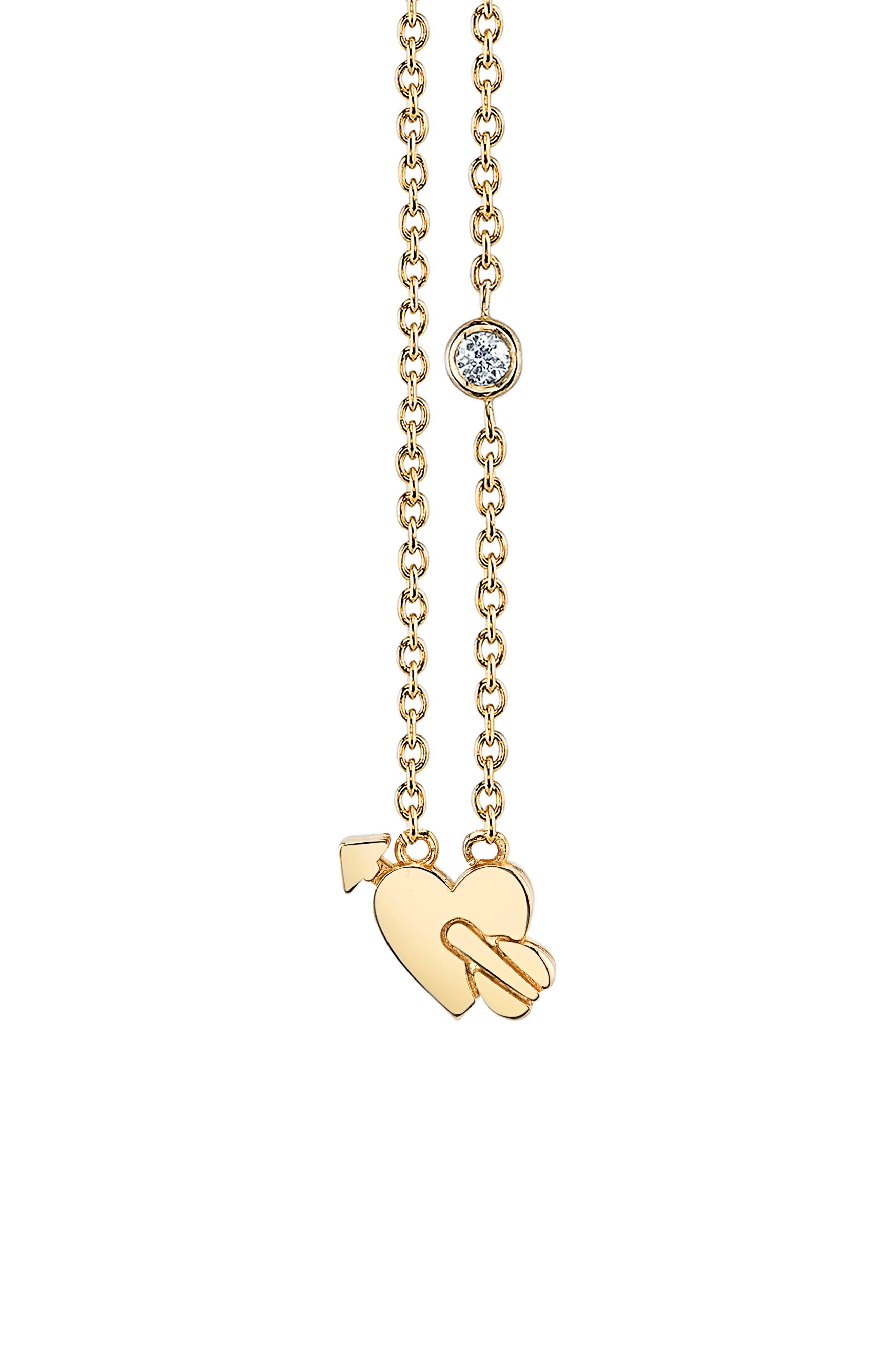 Shy be SE Lovestruck Diamond Emoji Necklace,                         Main,                         color, Gold