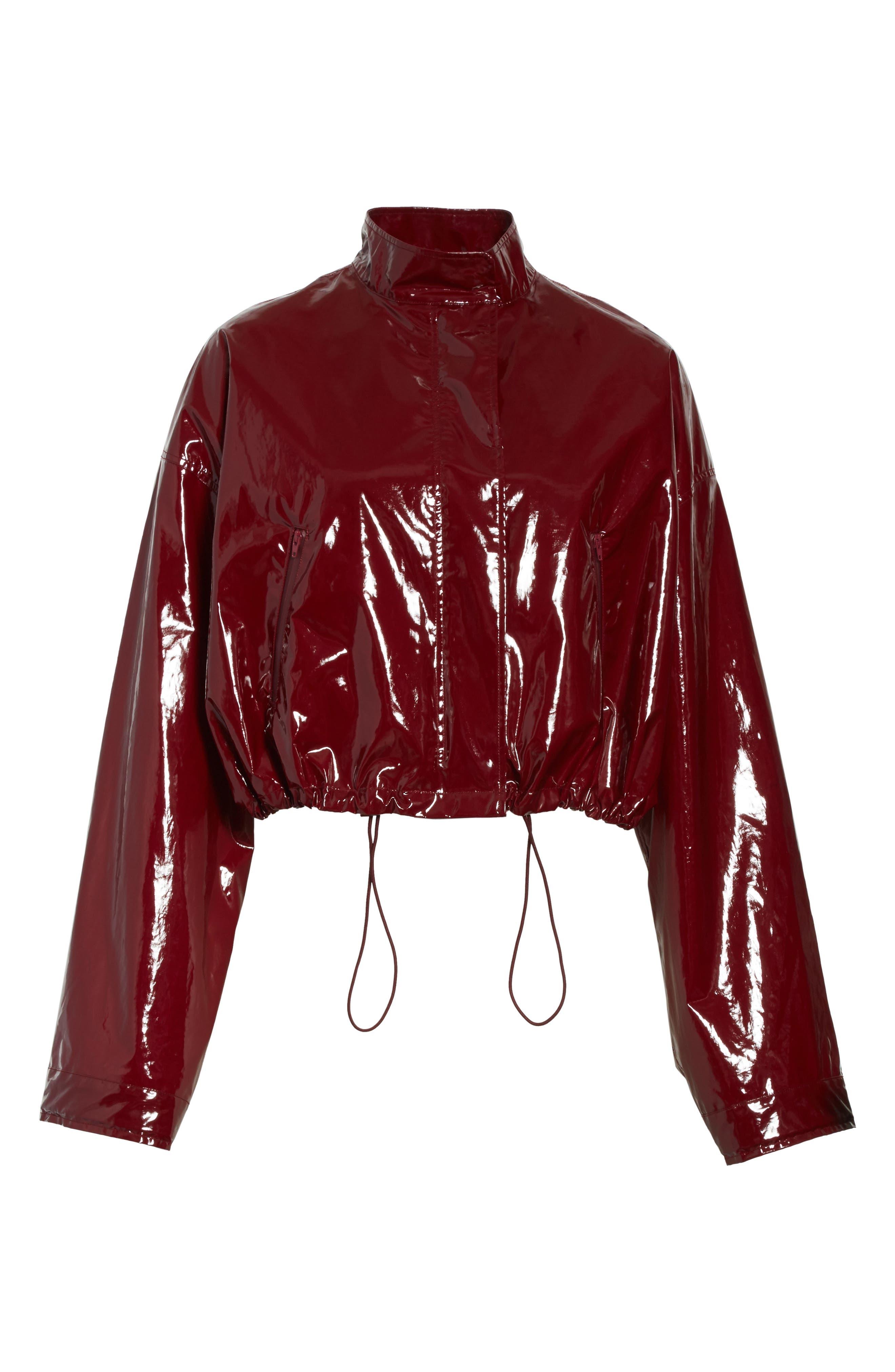 Coated Jacket,                             Alternate thumbnail 7, color,                             Burgundy