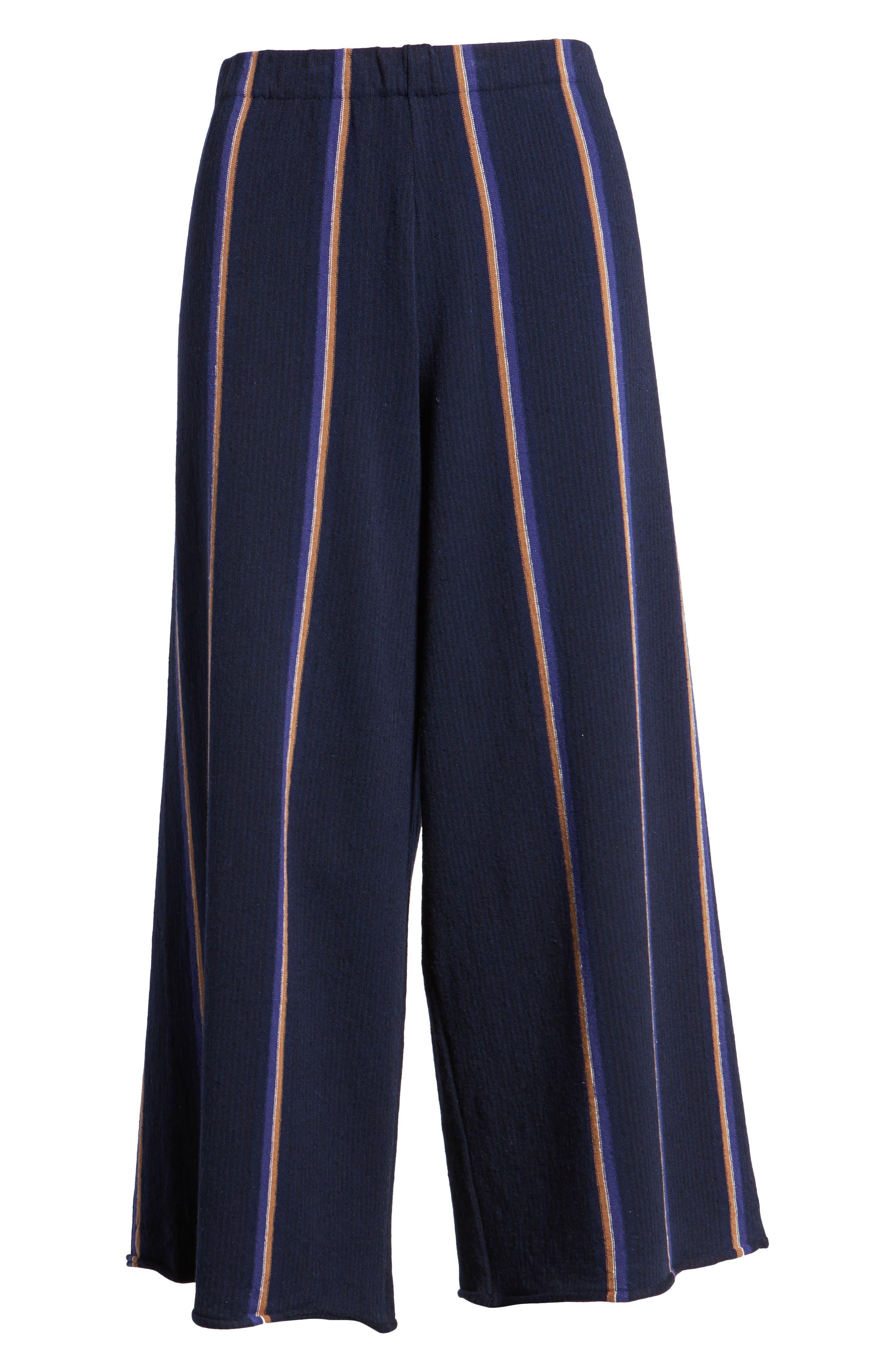 Lined Up Knit Pants,                             Alternate thumbnail 7, color,                             Blue Multi