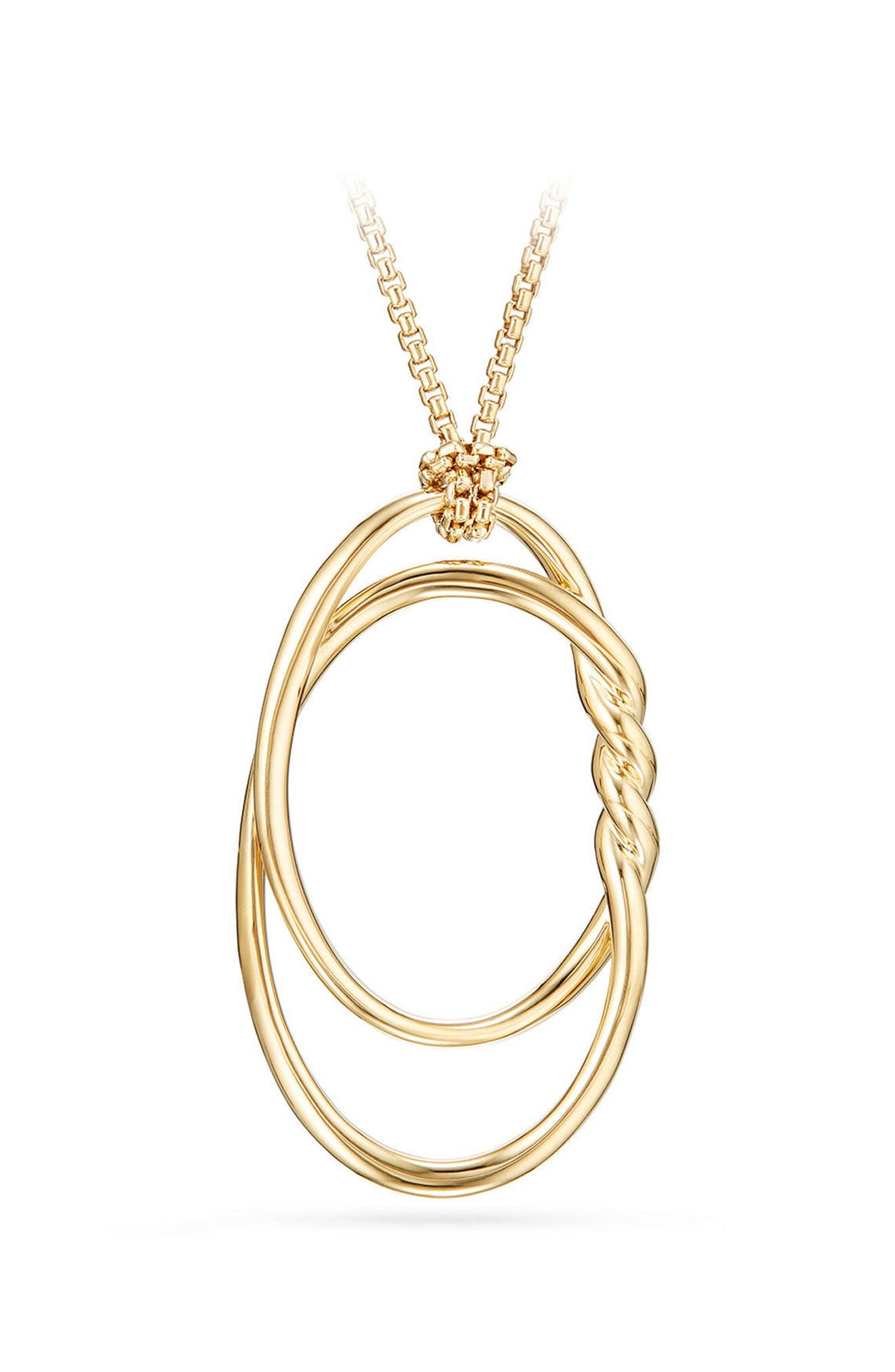 David Yurman Continuance Pendant Necklace in 18K Gold