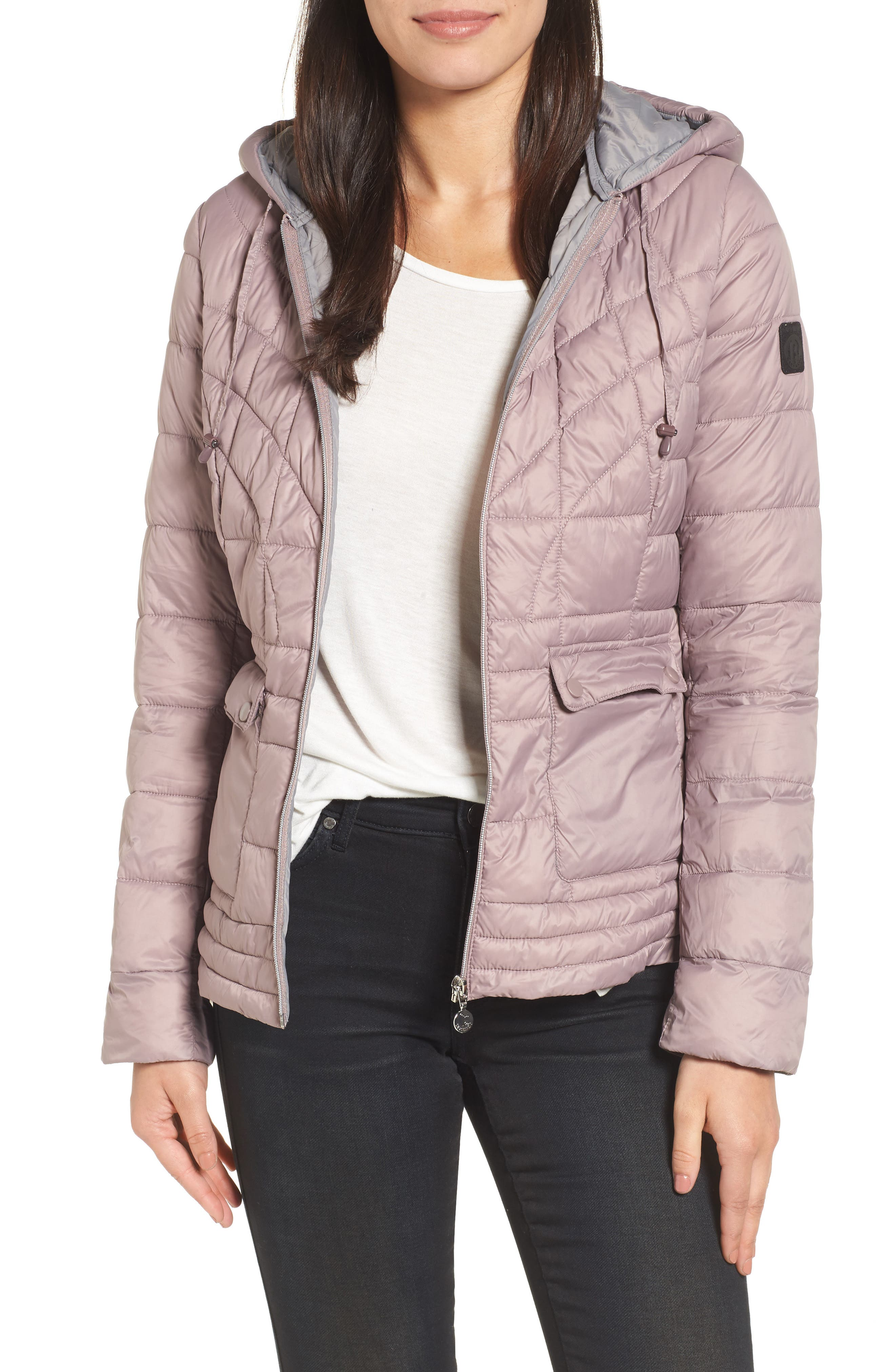 Water-Resistant PrimaLoft<sup>®</sup> Insulated Jacket,                         Main,                         color, Rosa