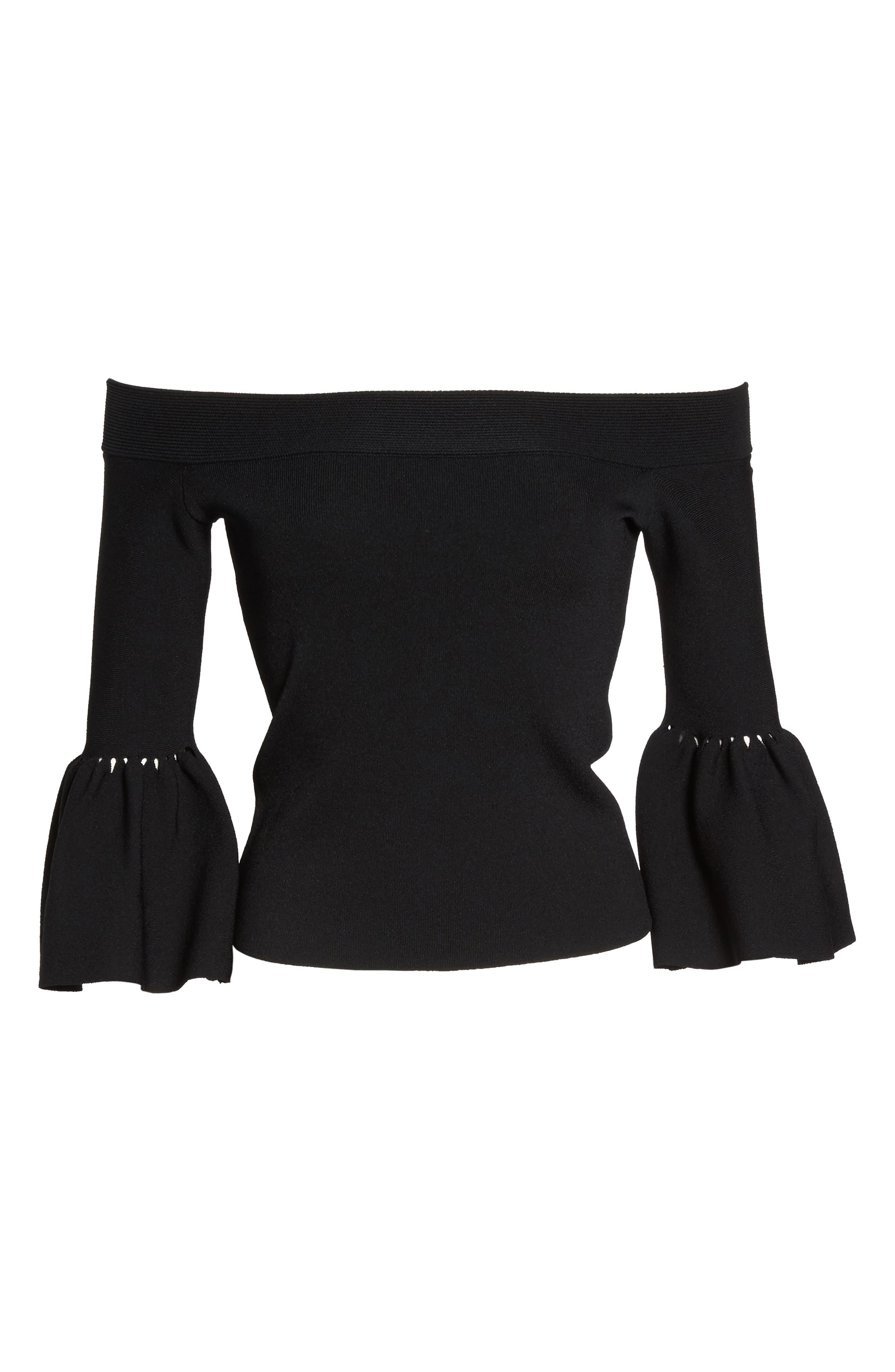 Alternate Image 6  - Eliza J Off the Shoulder Bell Sleeve Top