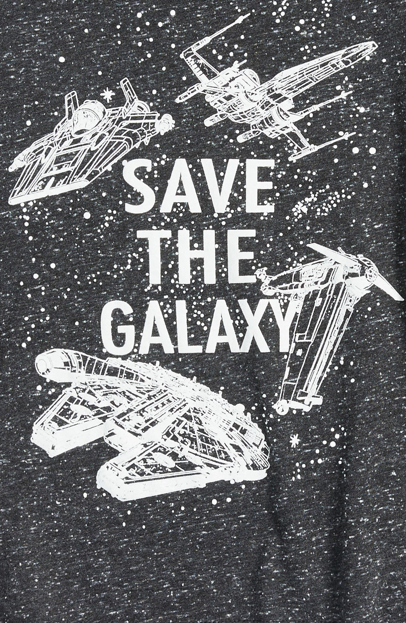 Alternate Image 2  - Jem Star Wars™ - Save the Galaxy Glow in the Dark T-Shirt (Toddler Boys & Little Boys)