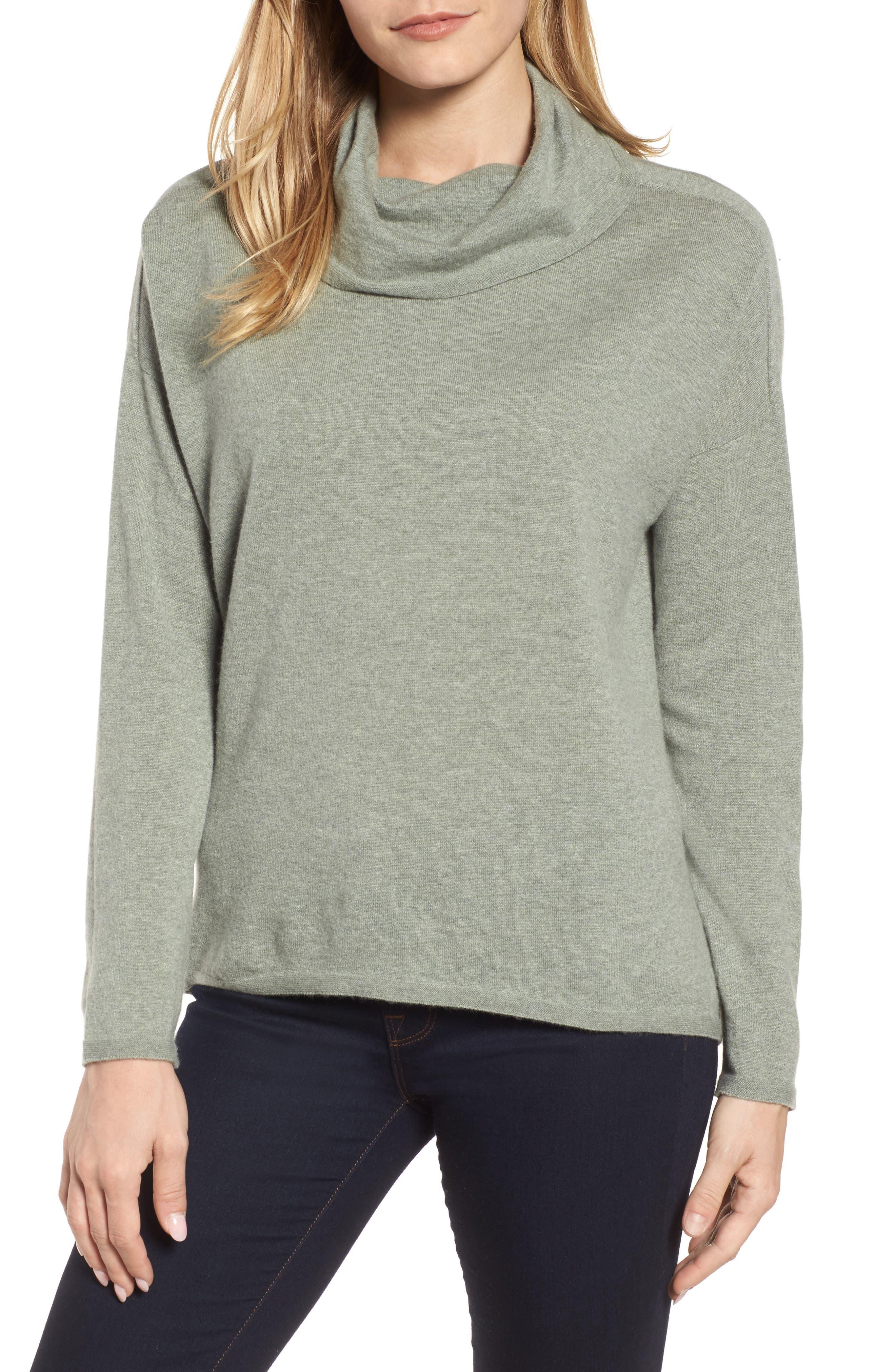 Boxy Cashmere Sweater,                         Main,                         color, Glen