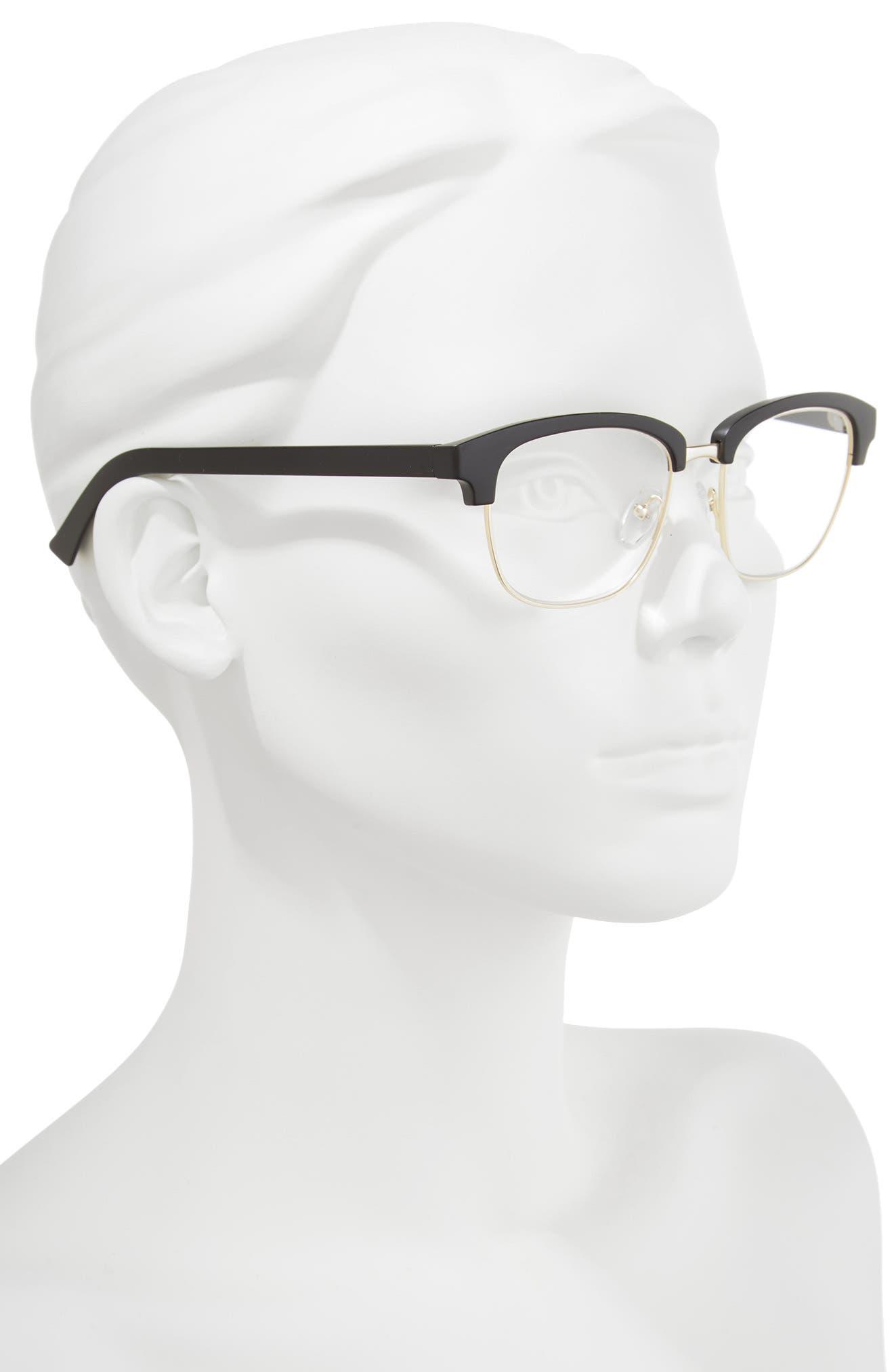 One Drew Over the English Test 52mm Reading Glasses,                             Alternate thumbnail 2, color,                             Black Marker