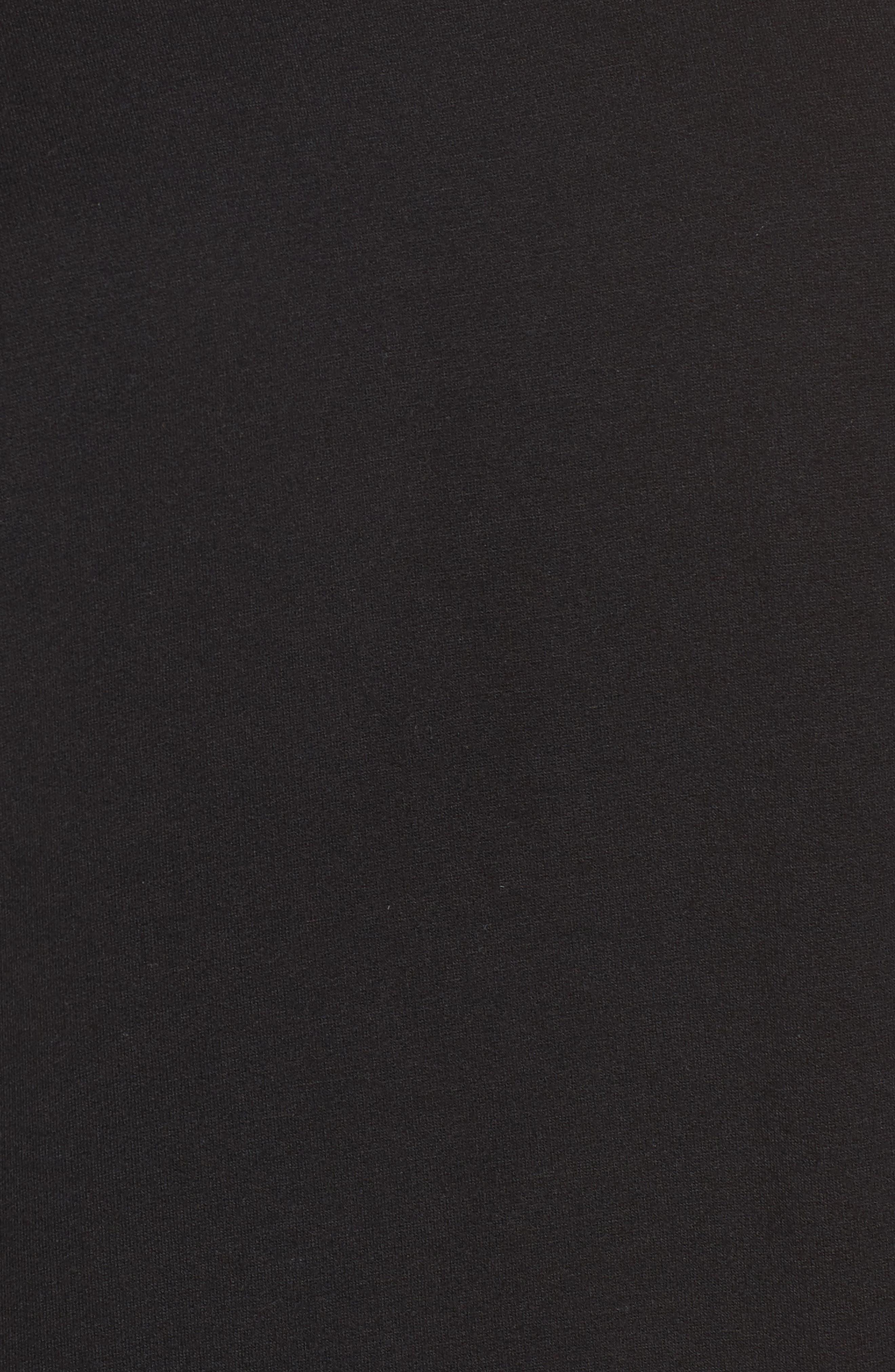 Stripe Trim Pullover,                             Alternate thumbnail 5, color,                             Black