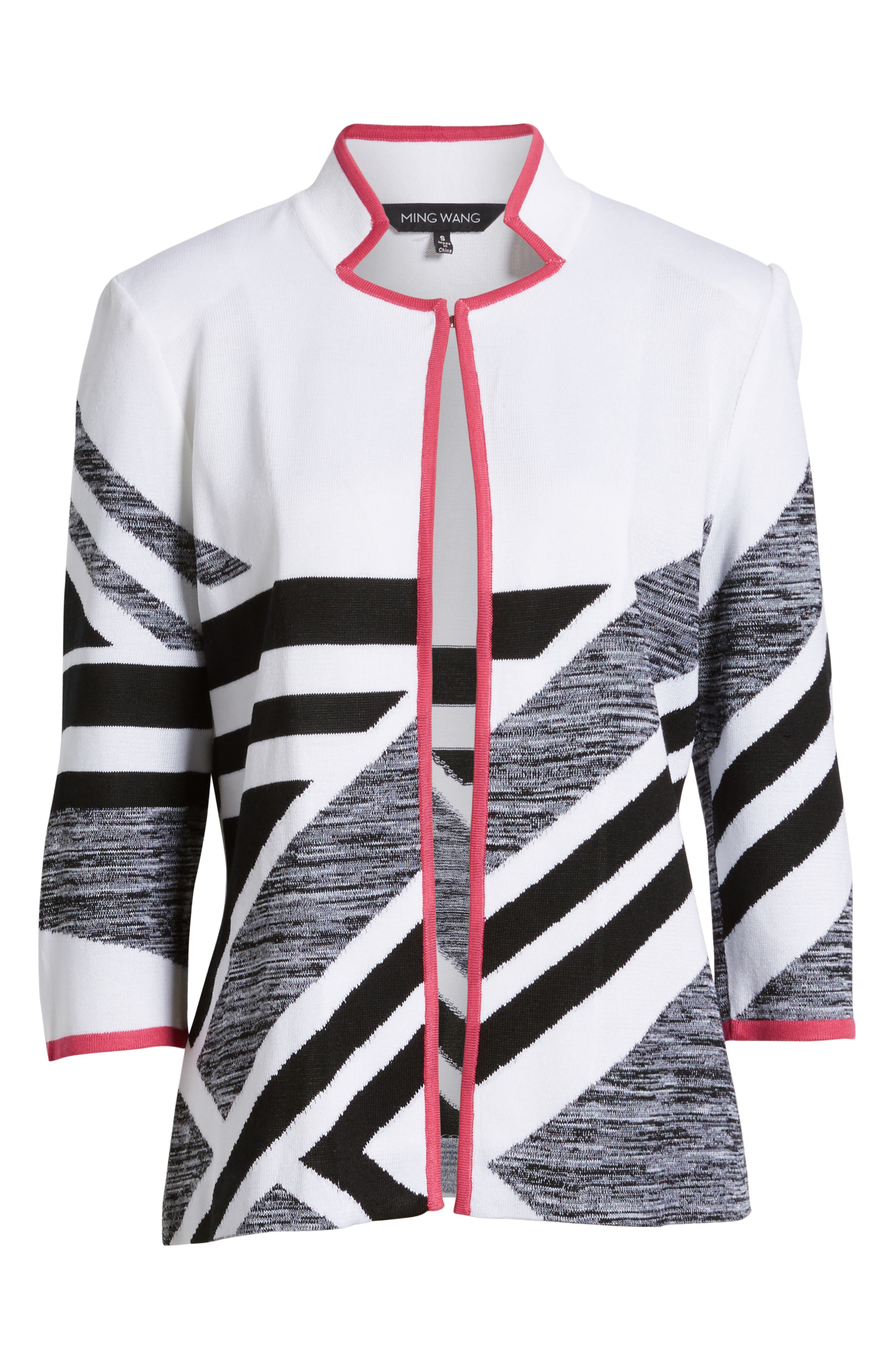 Alternate Image 6  - Ming Wang Geometric Knit Jacket