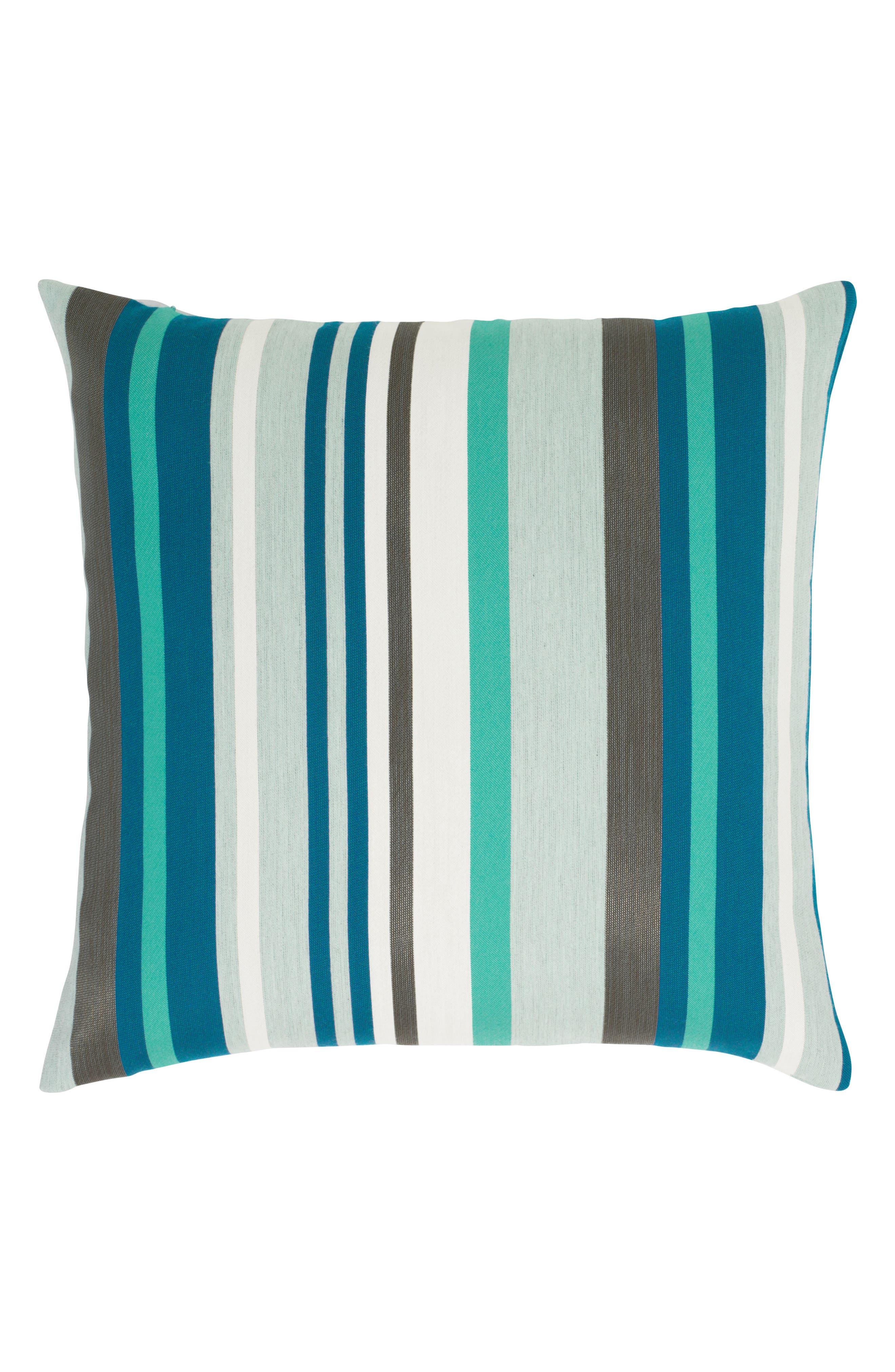 Elaine Smith Lagoon Stripe Indoor/Outdoor Accent Pillow