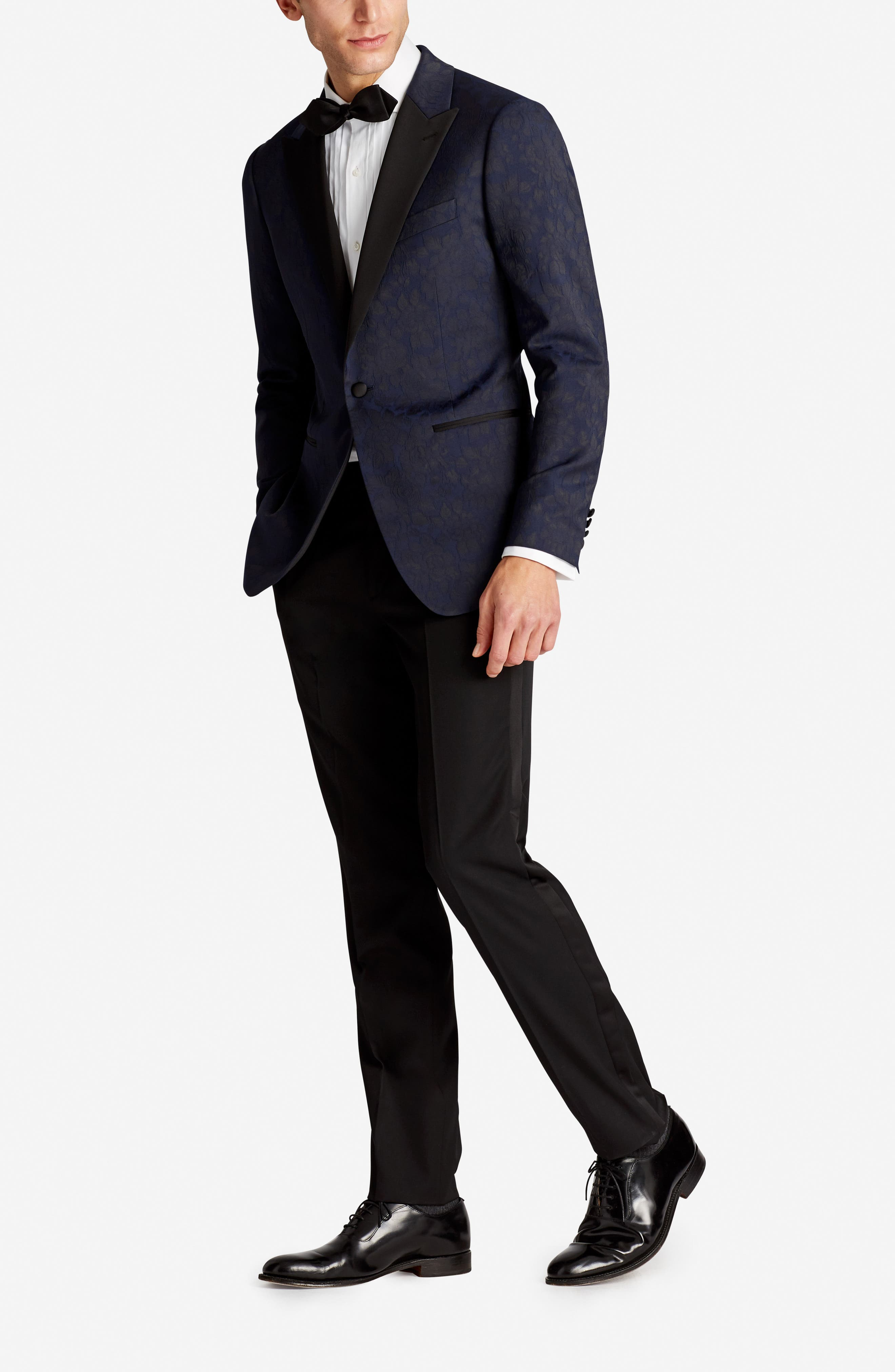 Capstone Slim Fit Stretch Dinner Jacket,                             Alternate thumbnail 4, color,                             Floral Jacquard