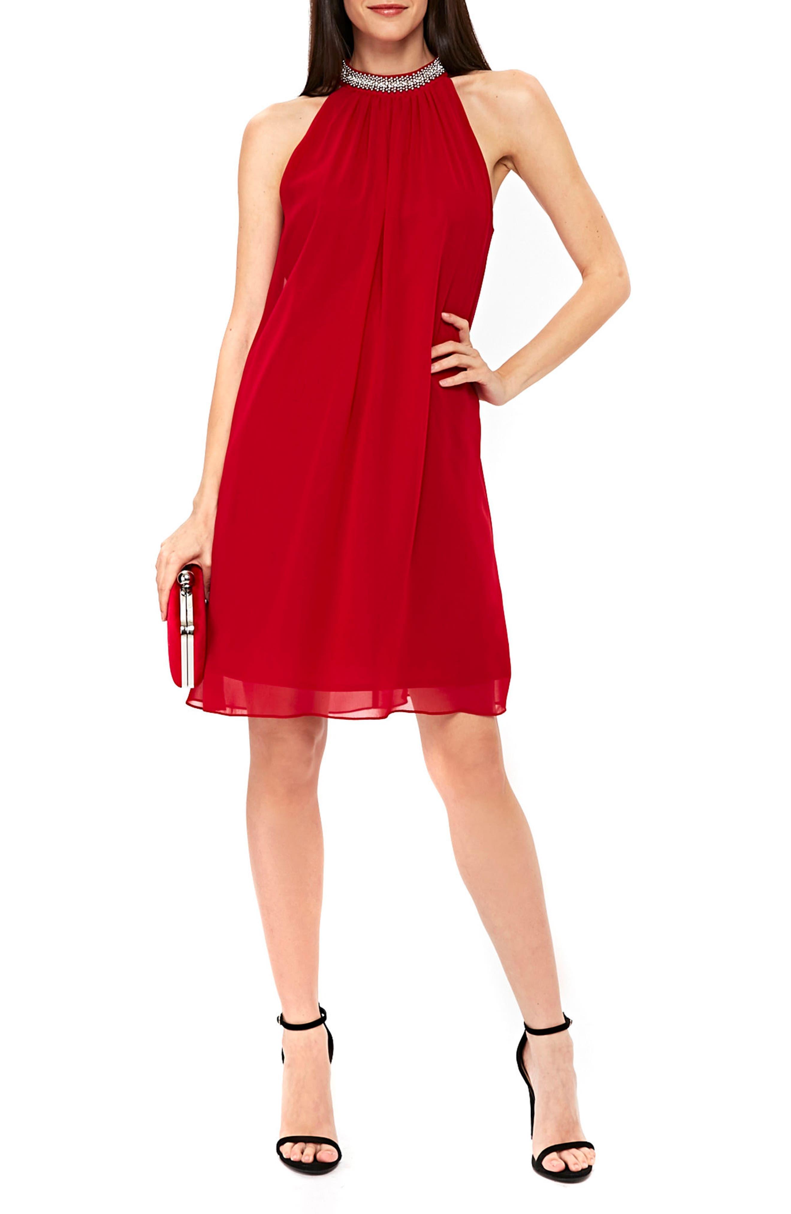 Wallis Embellished Neck Shift Dress