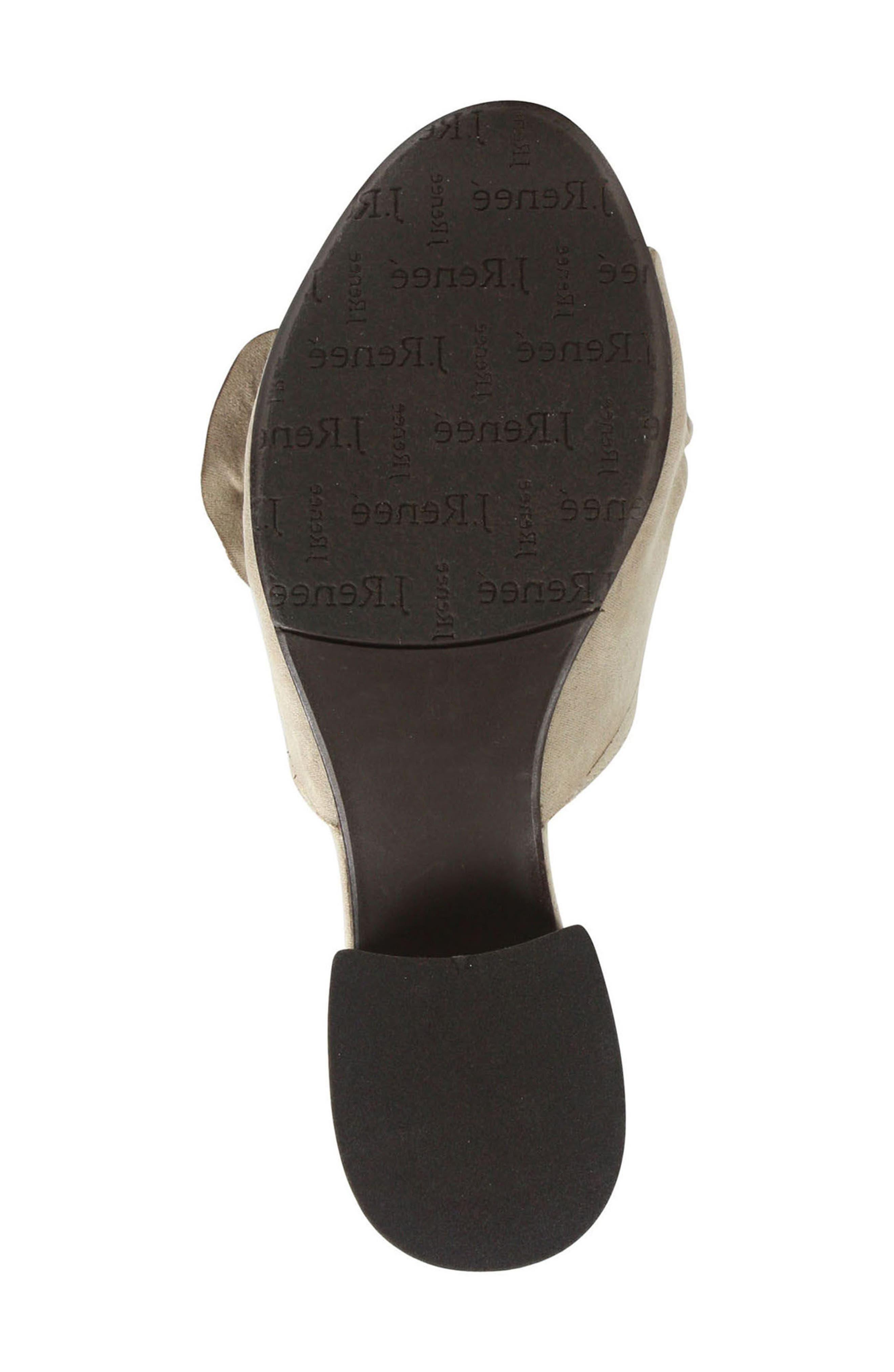 Sattuck Slide Sandal,                             Alternate thumbnail 6, color,                             Dark Beige Fabric