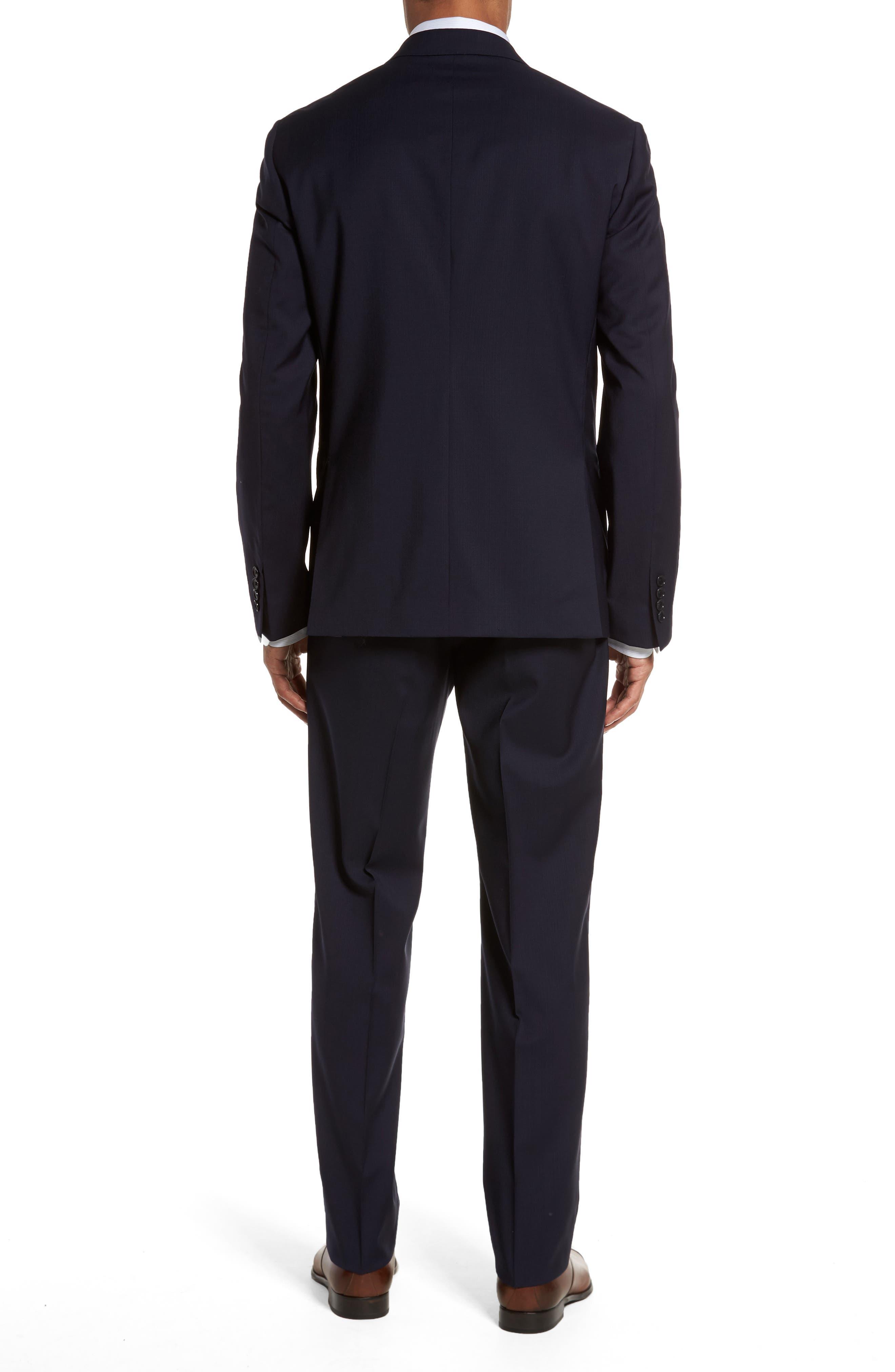 Classic Fit Check Suit,                             Alternate thumbnail 2, color,                             Navy