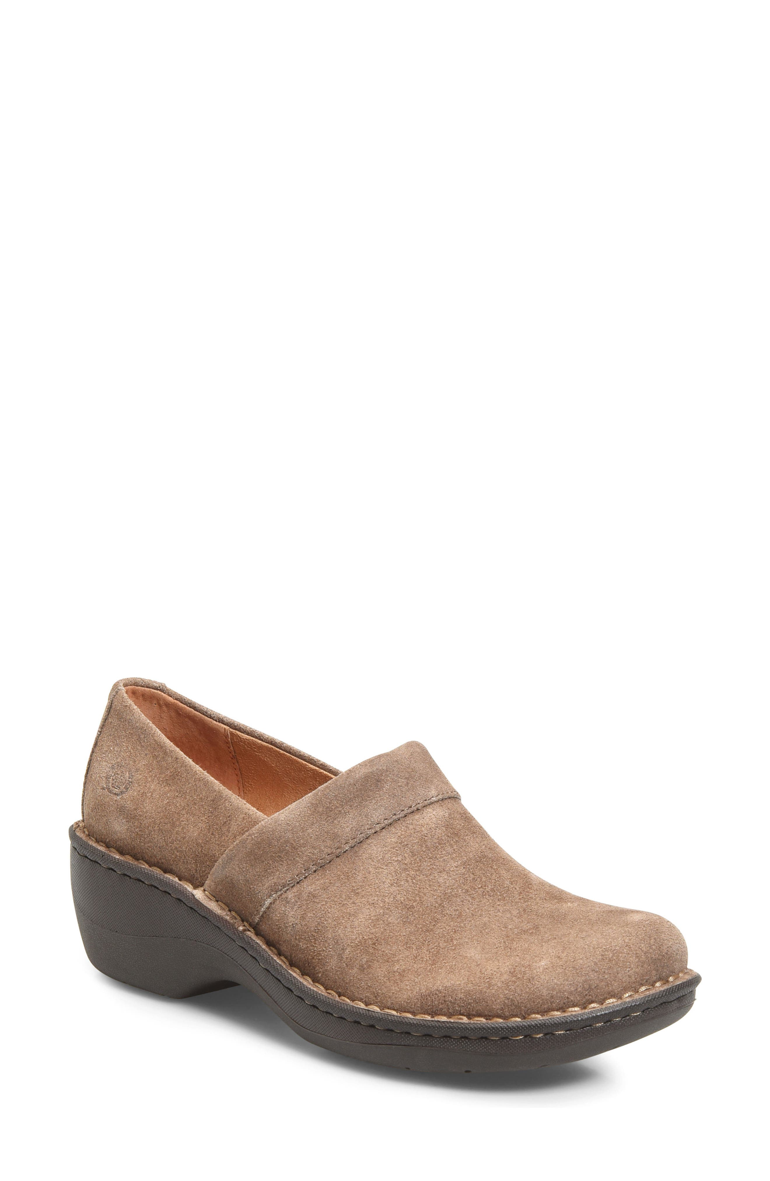 Born Askel Clog,                             Main thumbnail 1, color,                             Taupe Suede