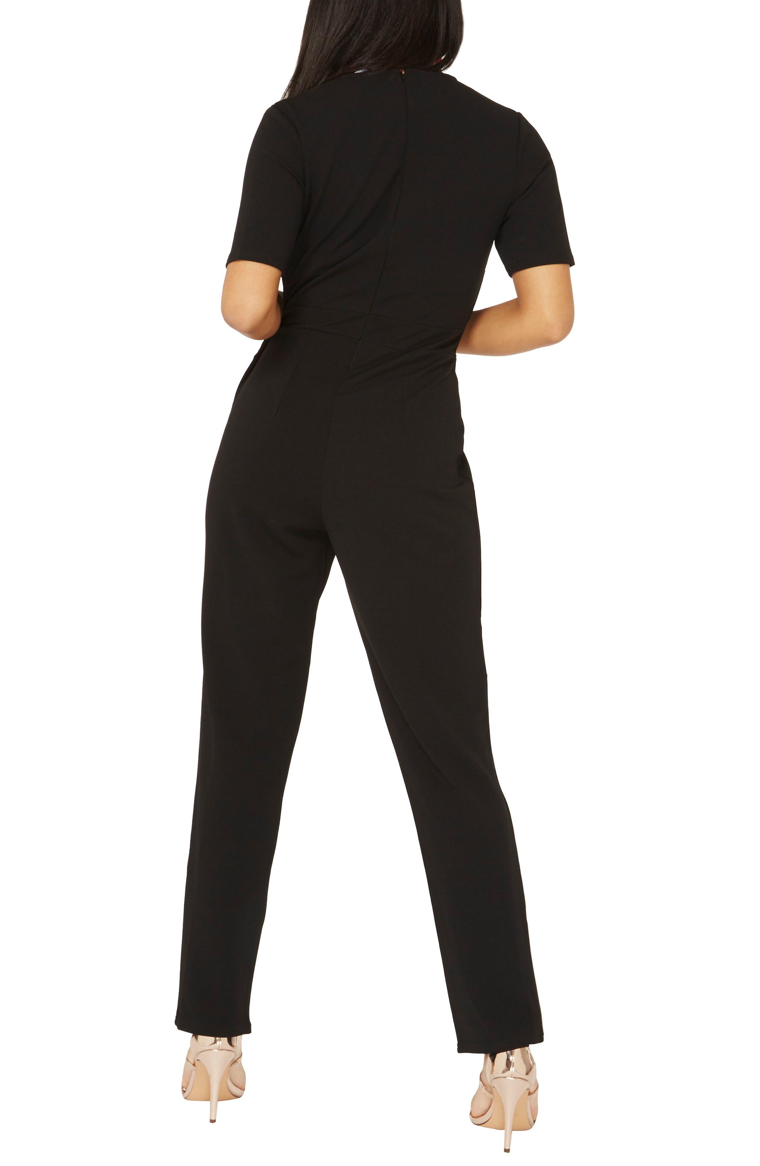 Jumpsuit,                             Alternate thumbnail 2, color,                             Black