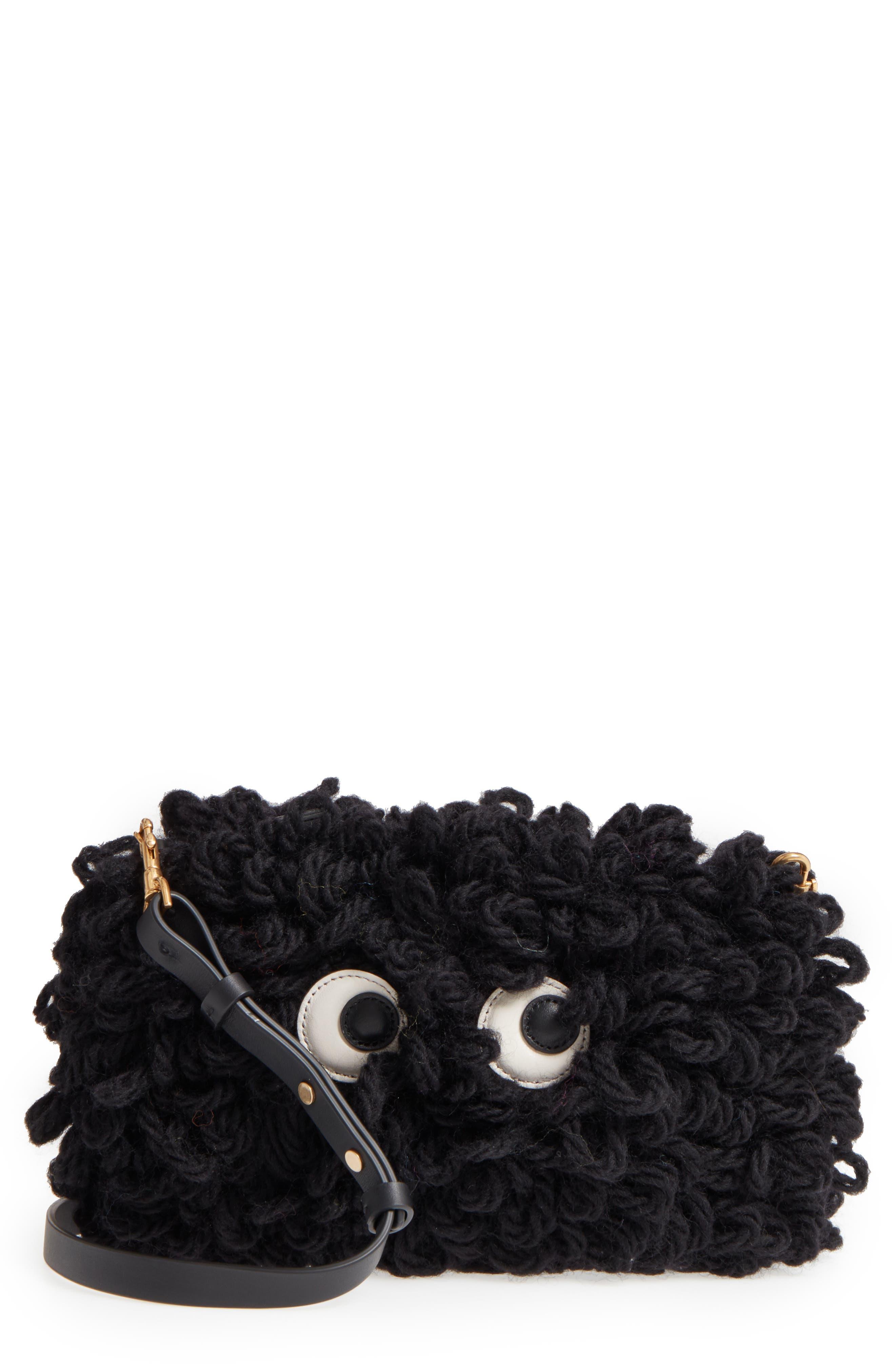 Anya Hindmarch Creeper Chunky Wool Crossbody Bag