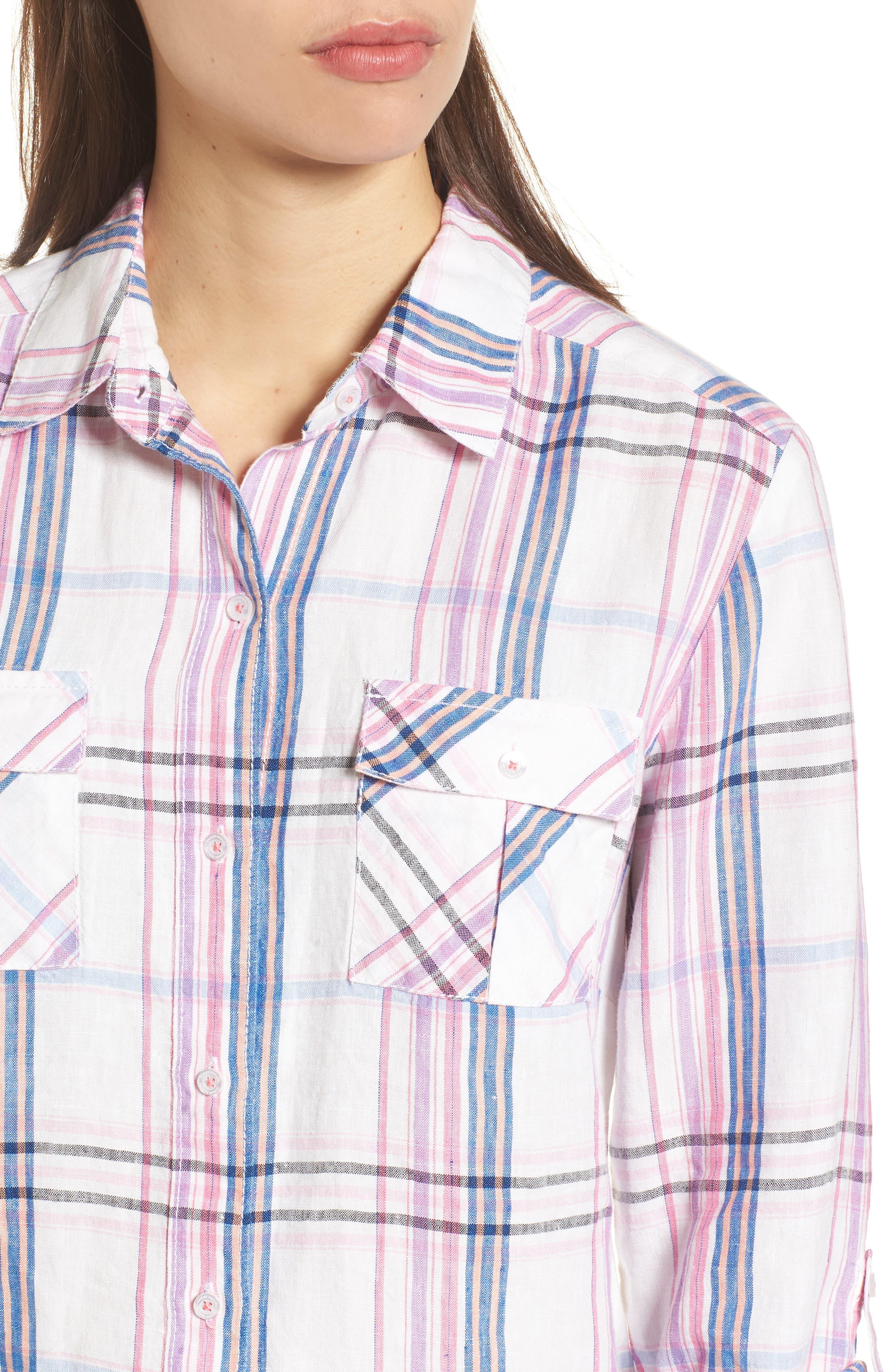 Alternate Image 4  - Tommy Bahama Palazzo Plaid Shirt