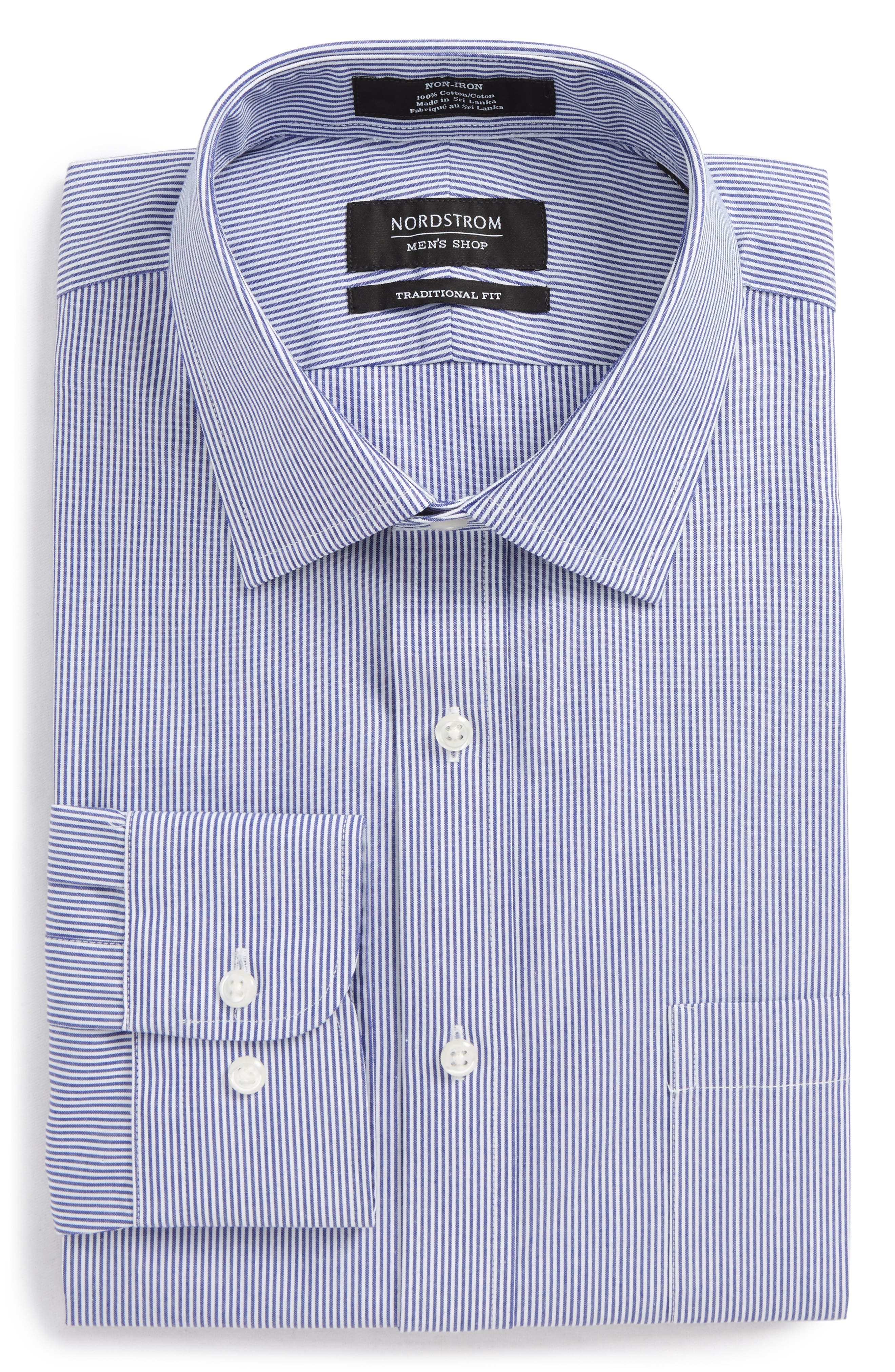 Alternate Image 6  - Nordstrom Men's Shop Smartcare™ Traditional Fit Stripe Dress Shirt