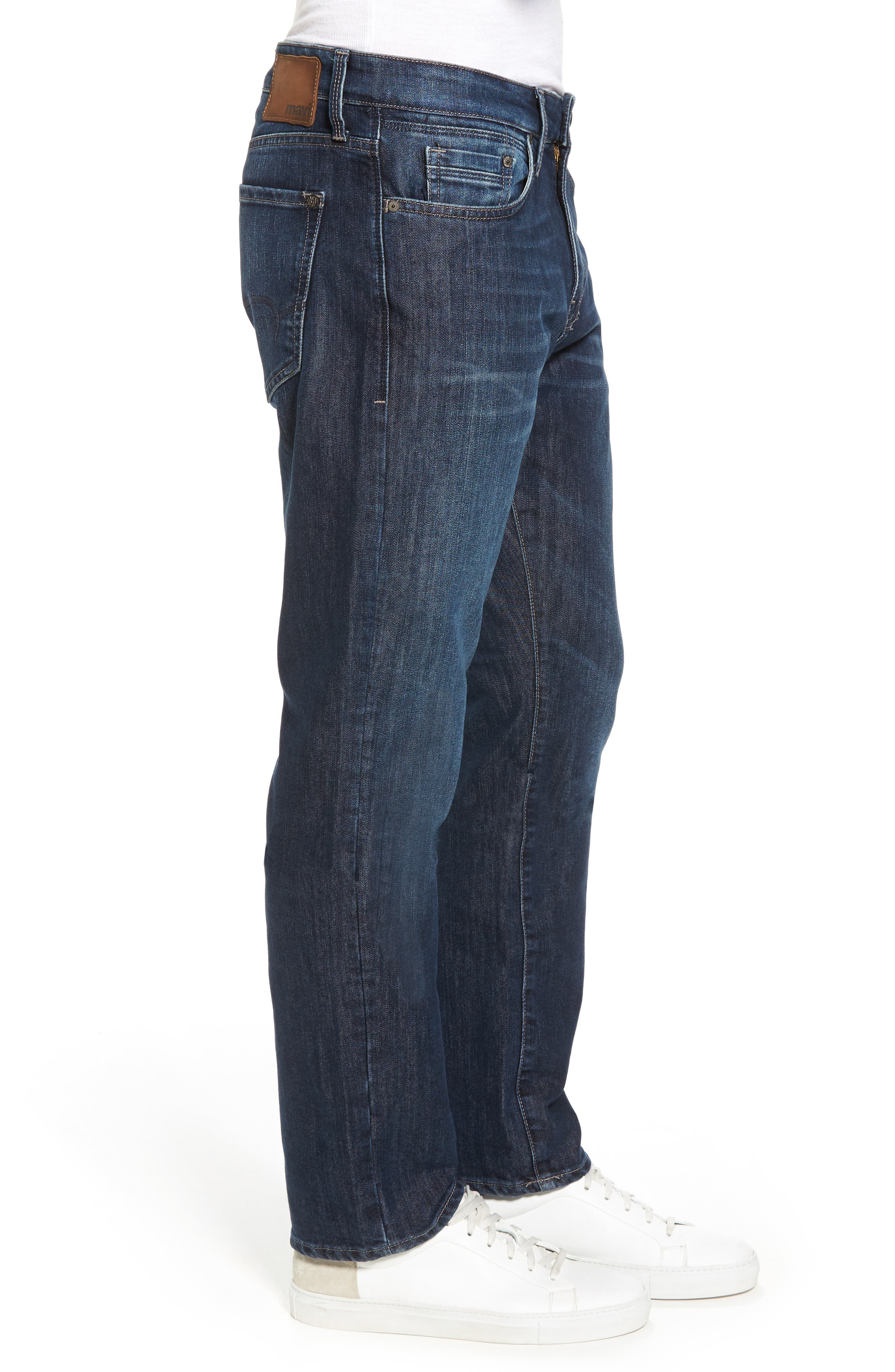 Myles Straight Leg Jeans,                             Alternate thumbnail 3, color,                             Deep Brushed Stanford