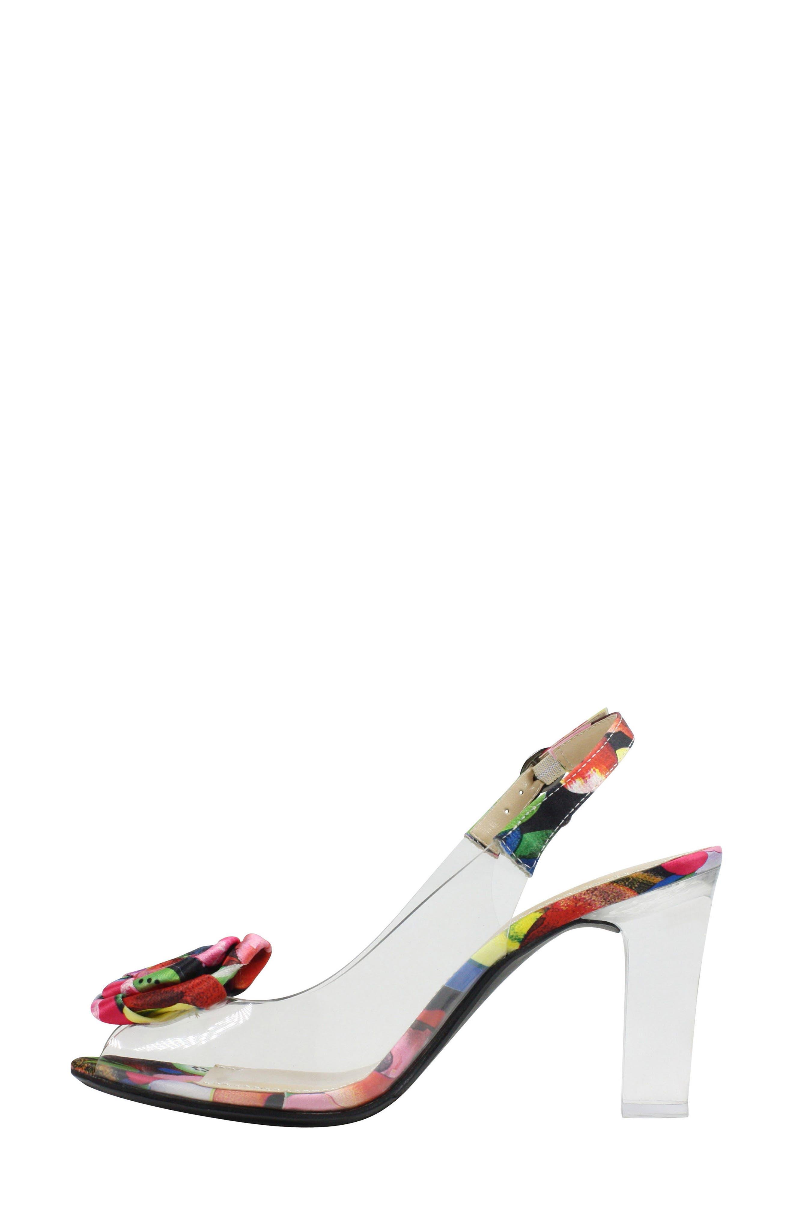 Adoracion Slingback Sandal,                             Alternate thumbnail 4, color,                             Clear/ Black/ Black
