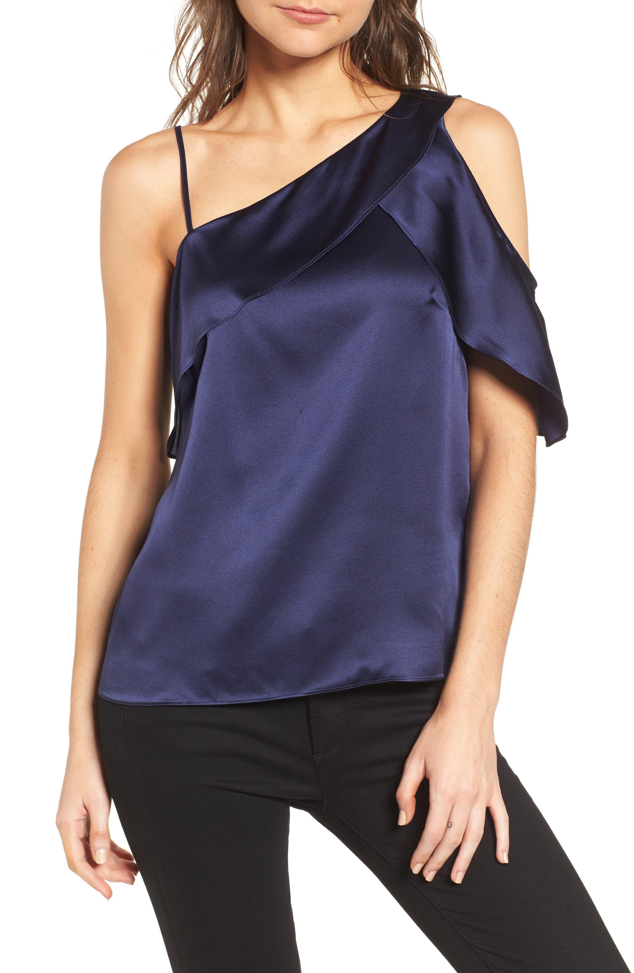 Parker Connie Cold Shoulder Silk Top