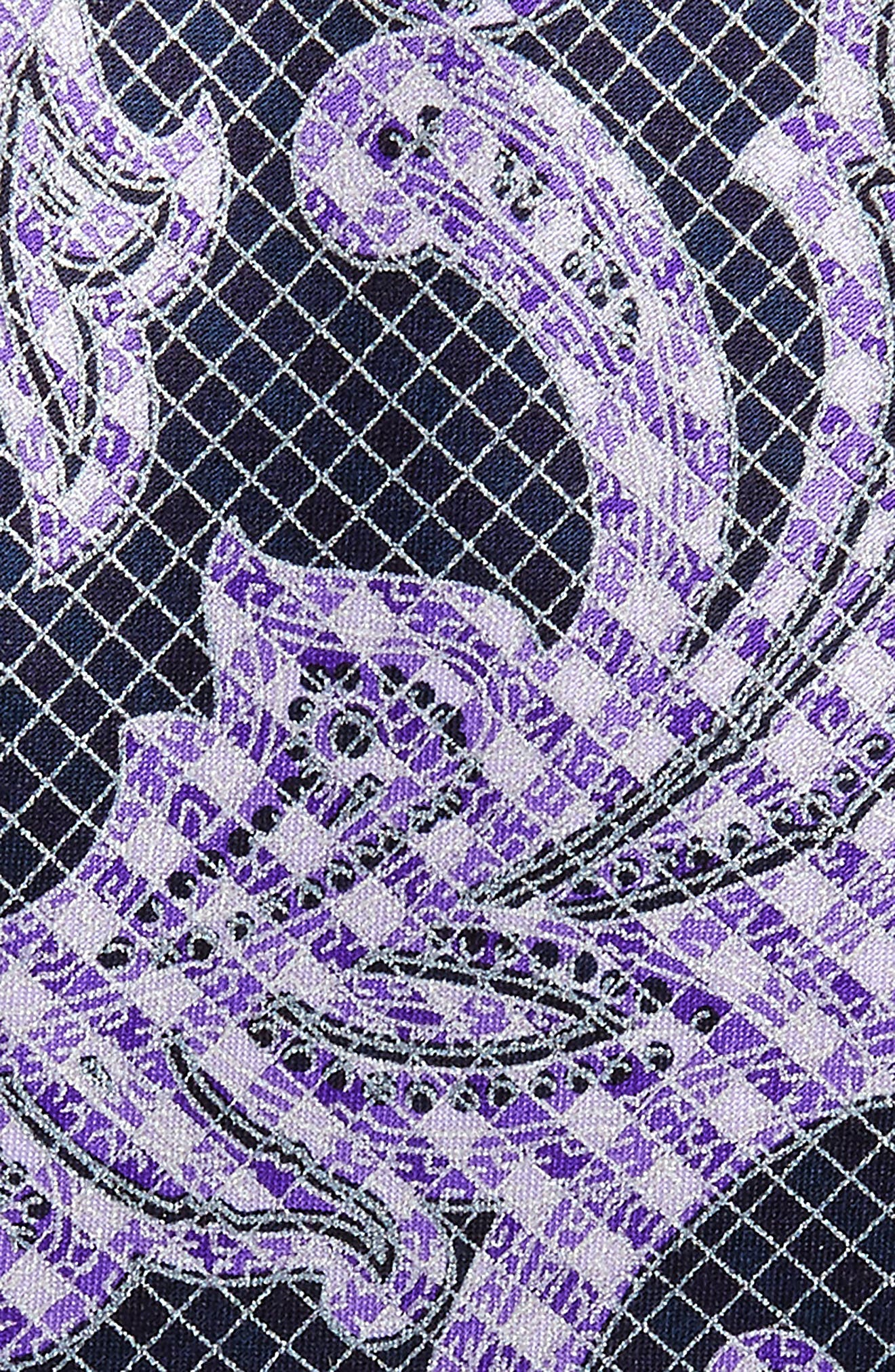 Paisley Silk Tie,                             Alternate thumbnail 2, color,                             Purple