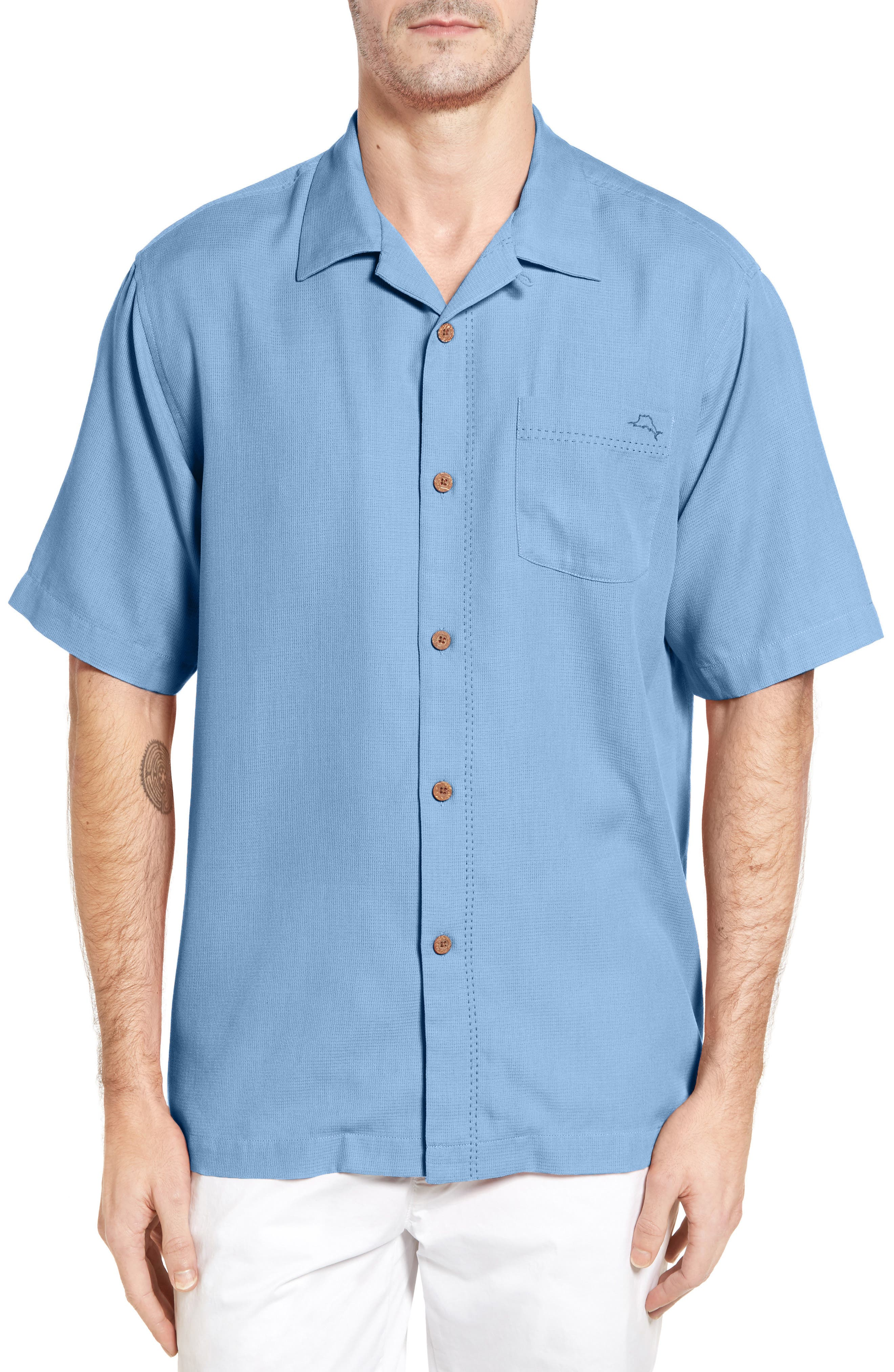 Alternate Image 1 Selected - Tommy Bahama Royal Bermuda Standard Fit Silk Blend Camp Shirt