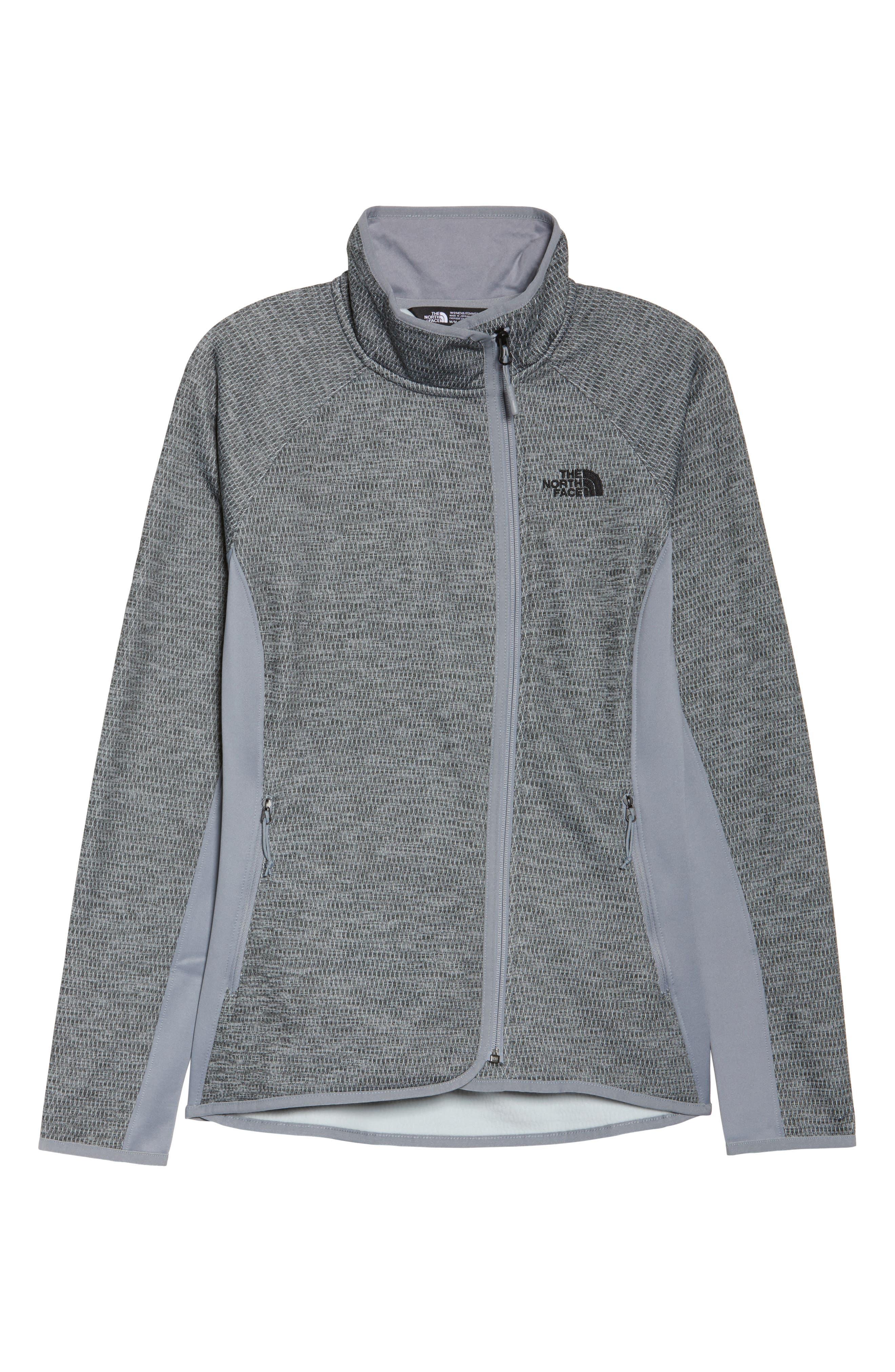 Arcata Zip Jacket,                             Alternate thumbnail 7, color,                             Tnf Mid Grey Heather/ Black