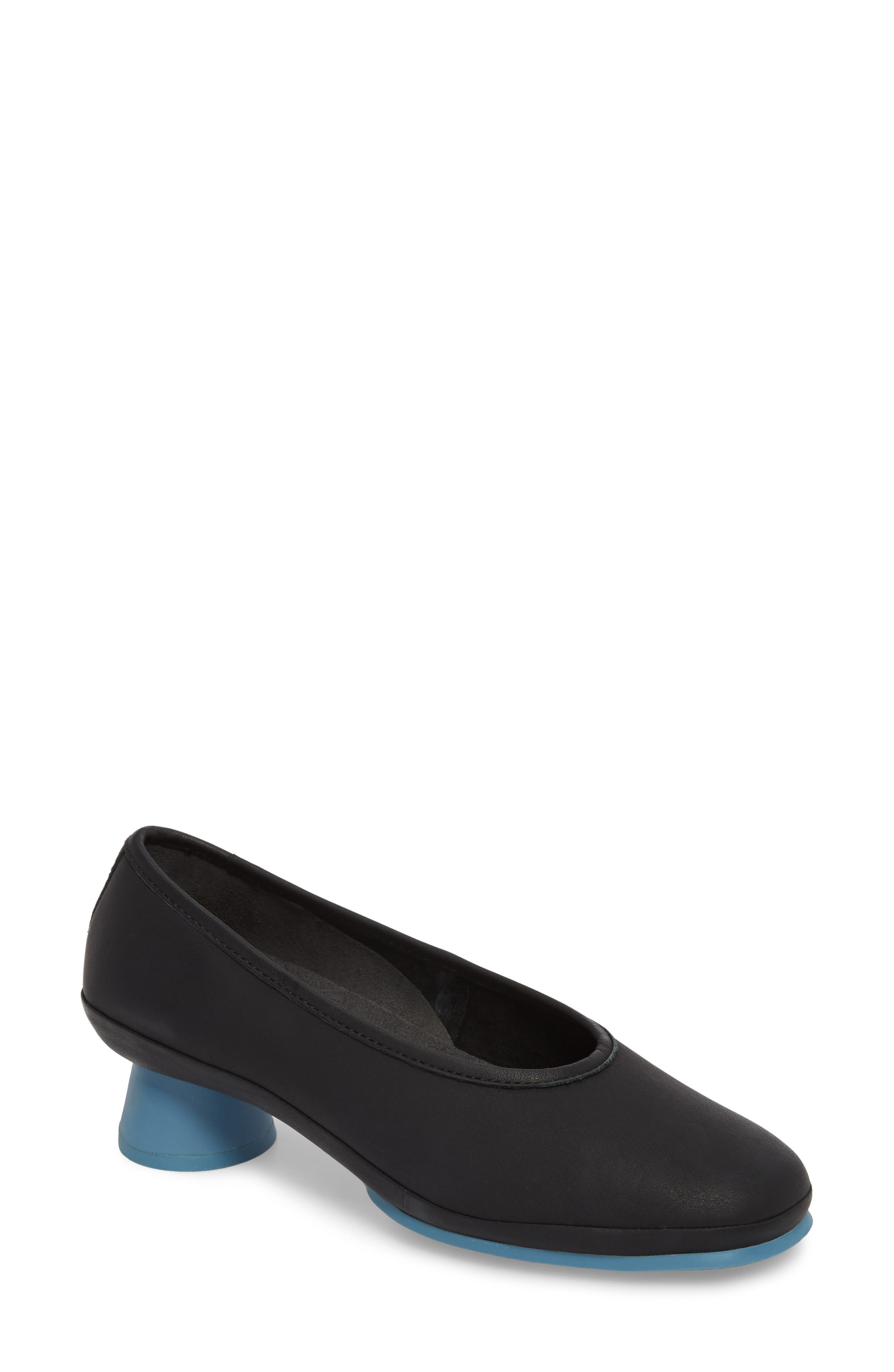 Alright Cone Heel Pump,                             Main thumbnail 1, color,                             Black Leather
