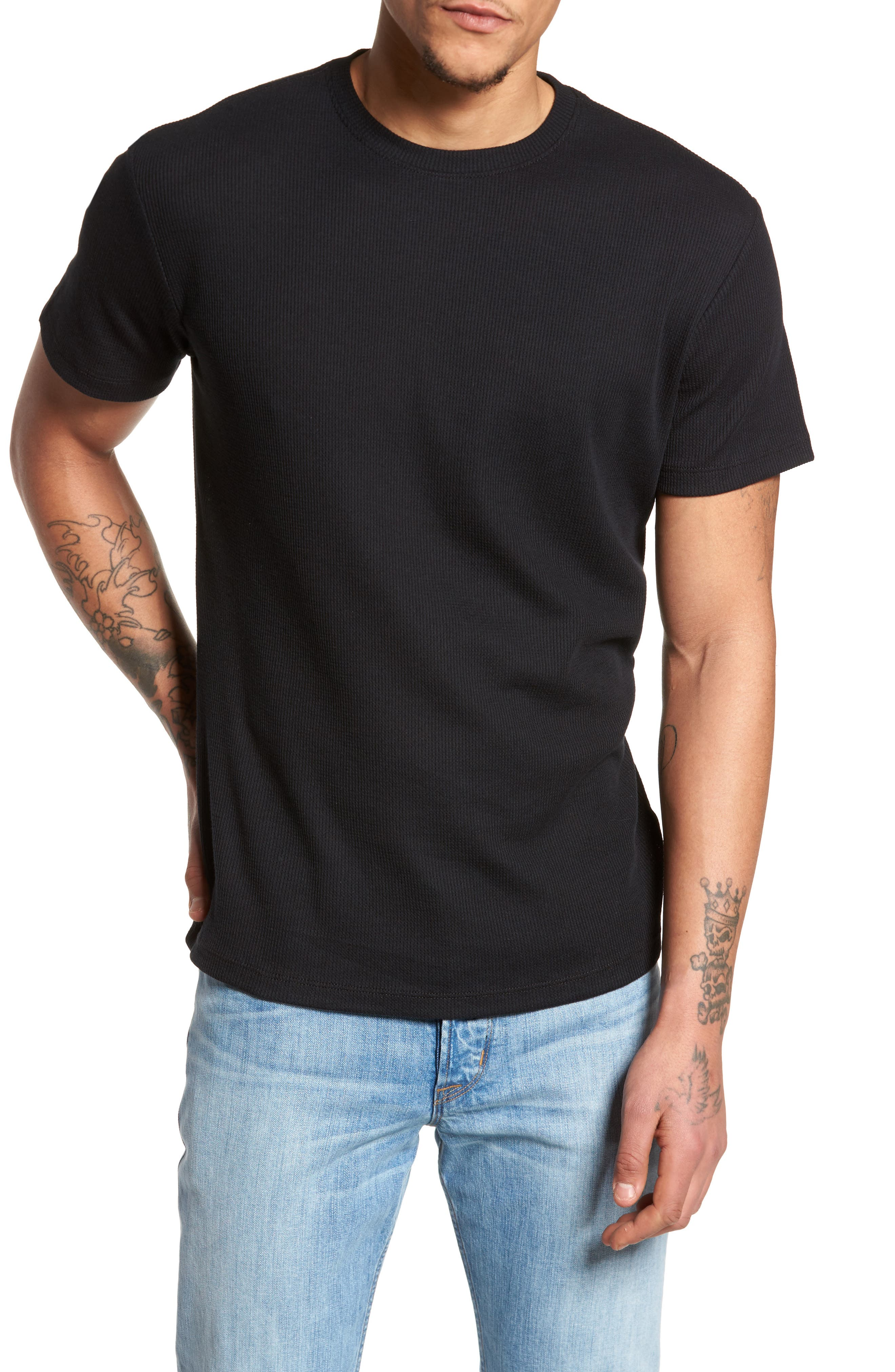 Thermal T-Shirt,                         Main,                         color, Black Rock