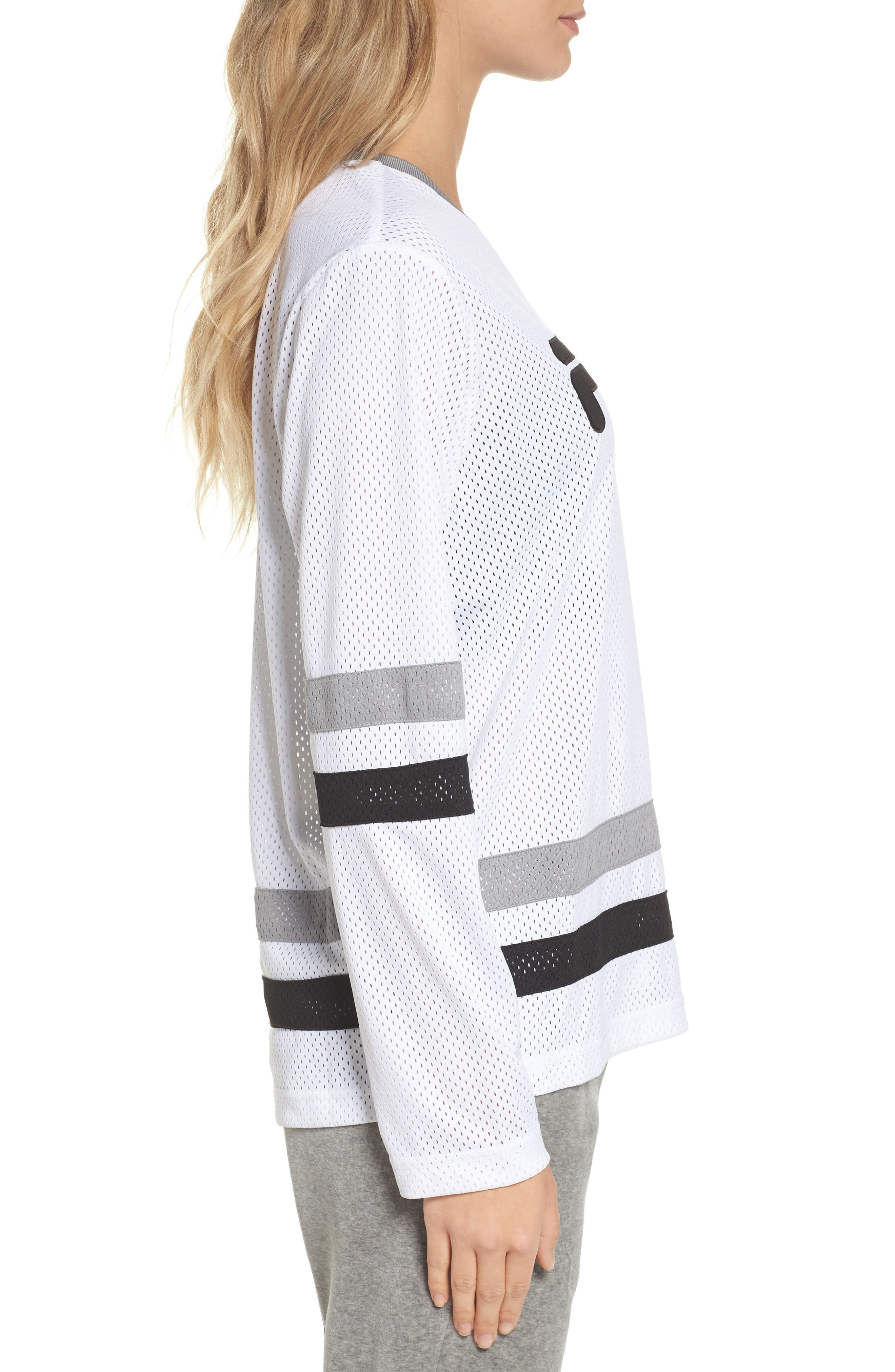 Tanya Hockey Jersey,                             Alternate thumbnail 3, color,                             White/ Black/ Silver Dollar