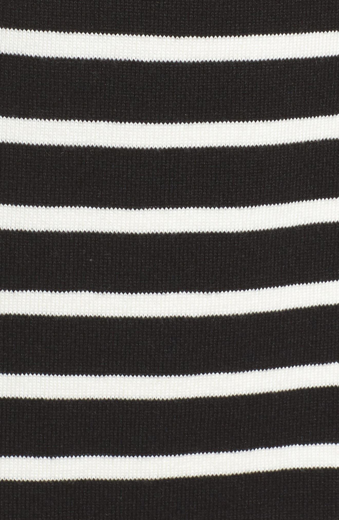 Alternate Image 5  - Eliza J Mockneck Stripe Shift Dress