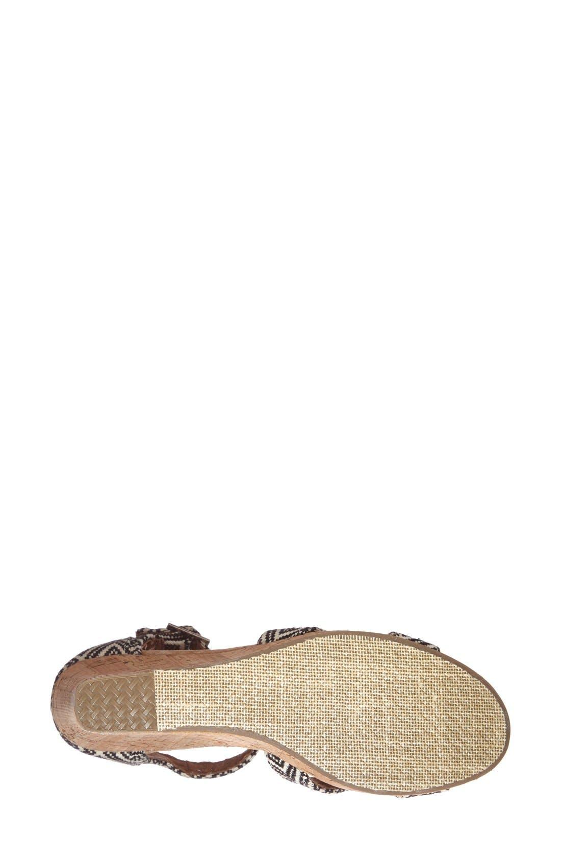 Alternate Image 5  - TOMS Canvas Woven Geometric Print Wedge Sandal (Women)