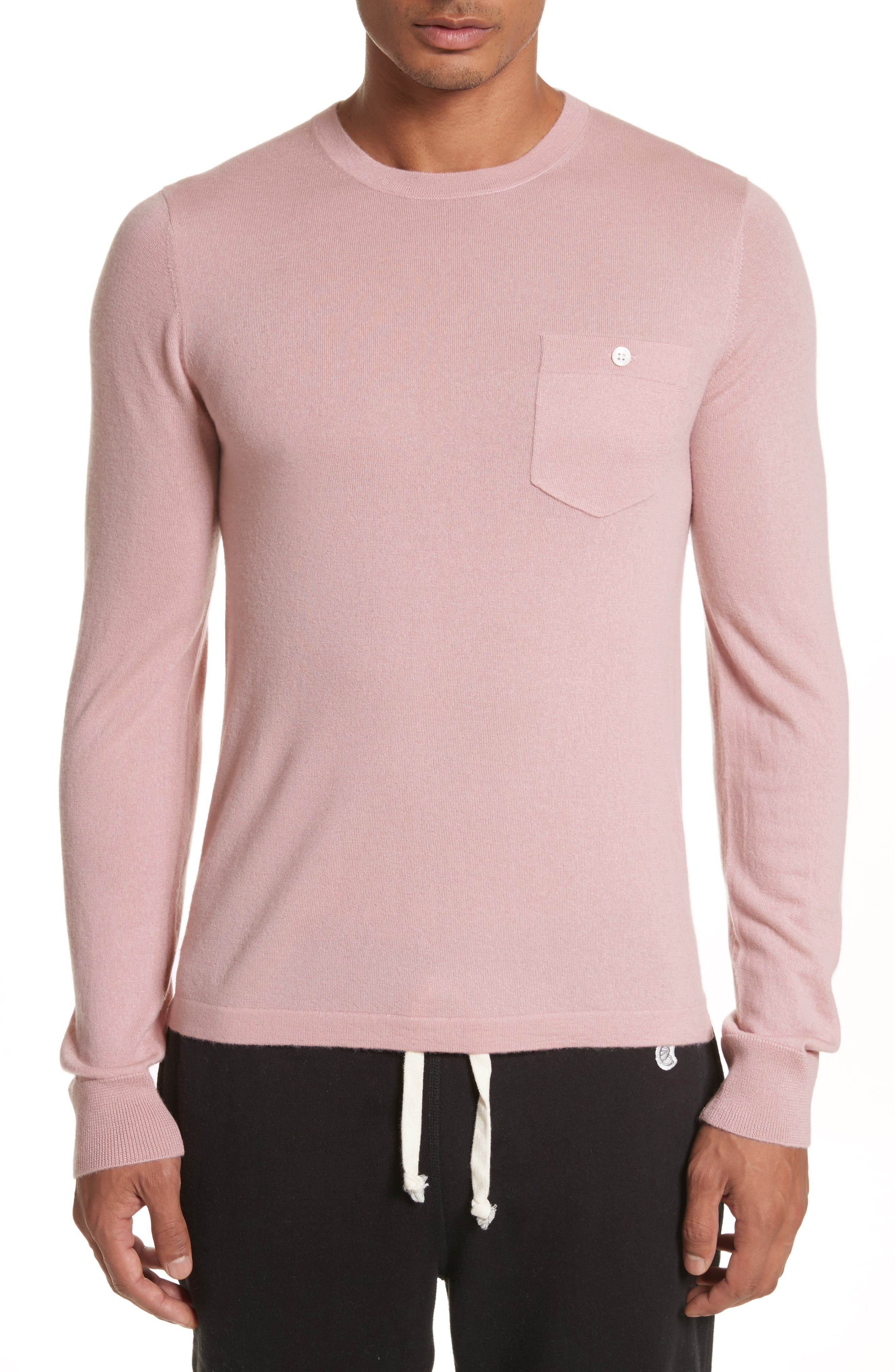 Cashmere Long Sleeve T-Shirt,                             Main thumbnail 1, color,                             Pink
