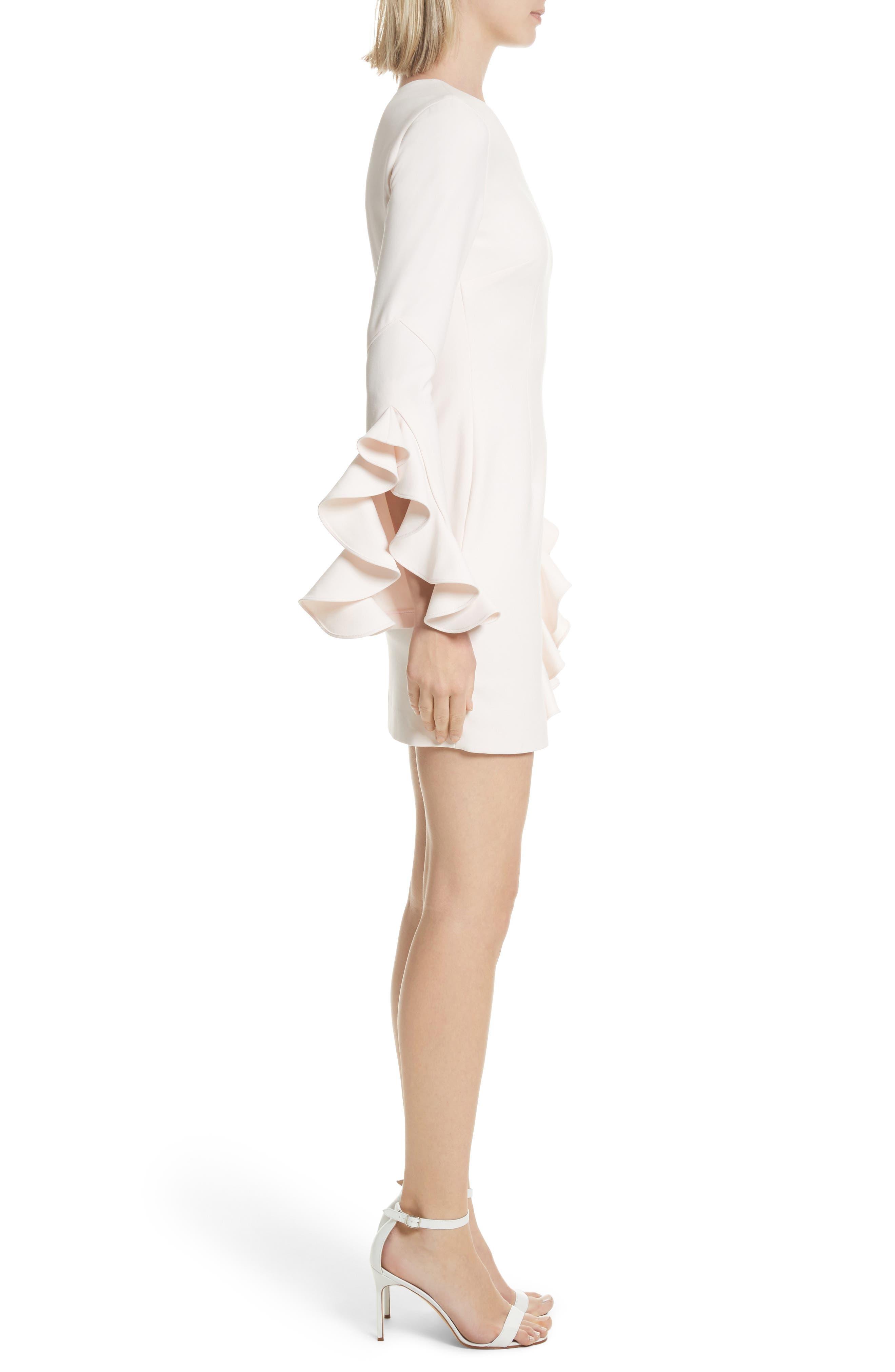 Pia Ruffle Trim One-Shoulder Dress,                             Alternate thumbnail 3, color,                             Pearl Blush