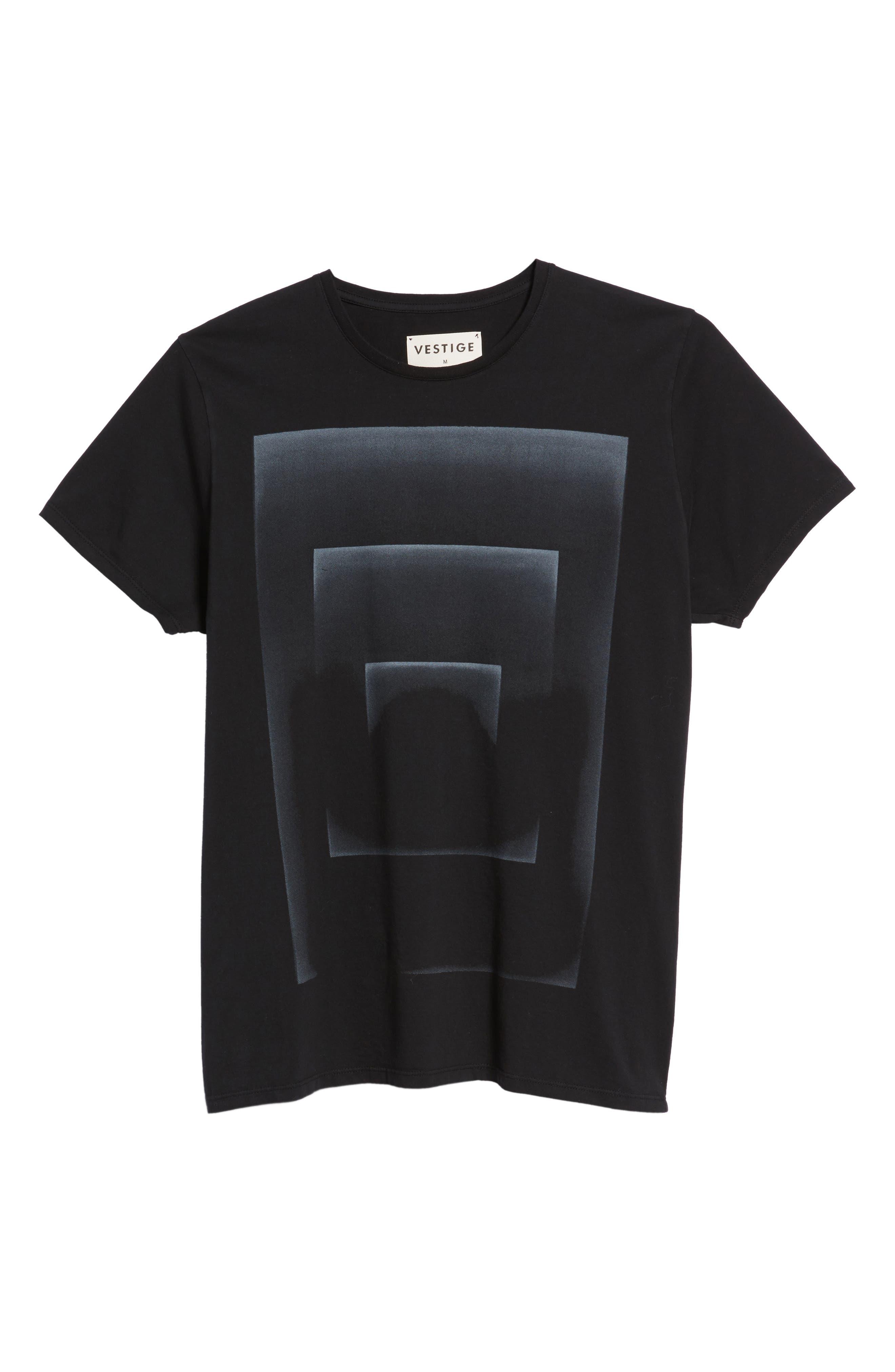 Outline Graphic T-Shirt,                             Alternate thumbnail 6, color,                             Black