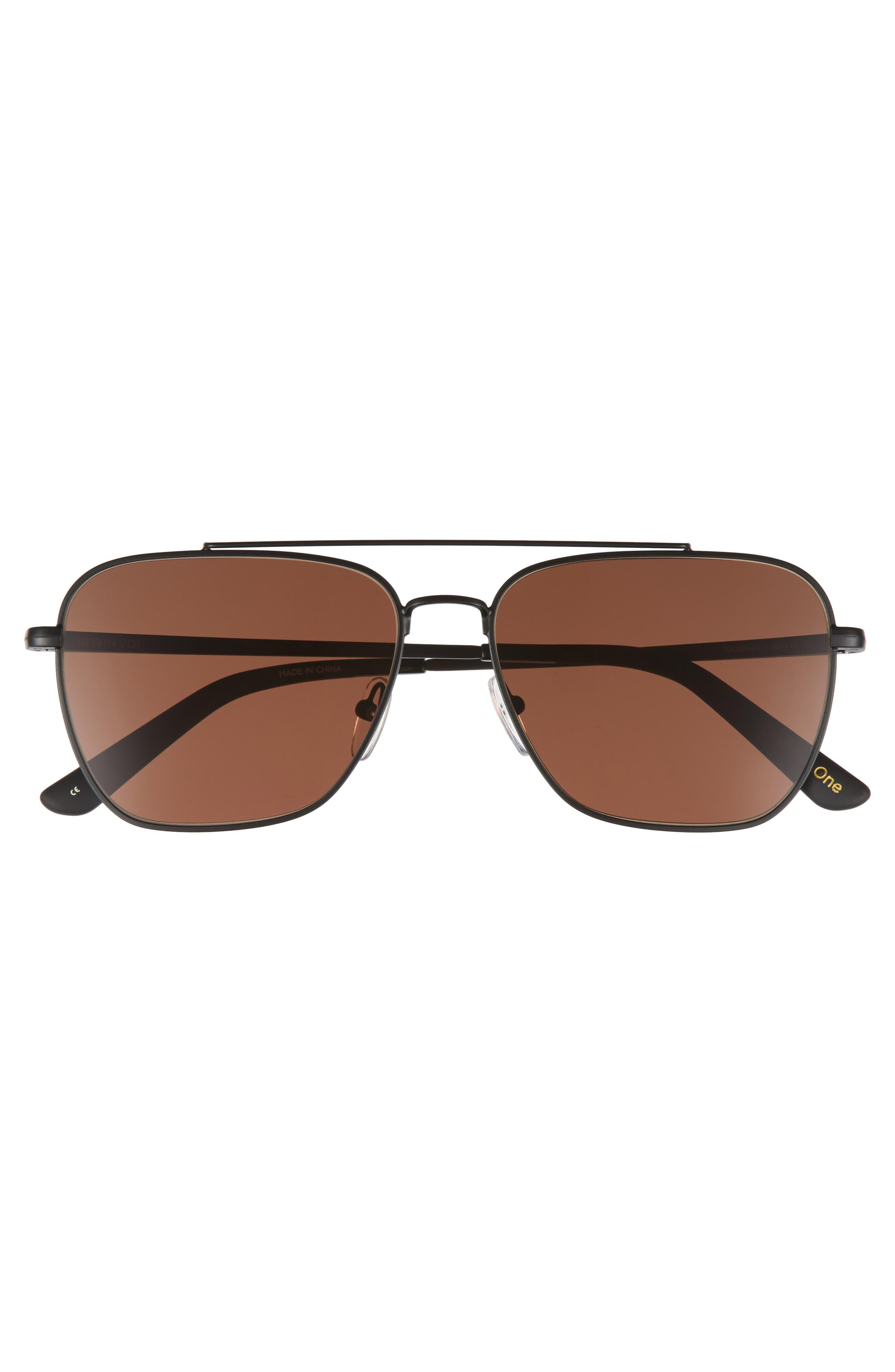Irwin 58mm Sunglasses,                             Alternate thumbnail 2, color,                             Matte Black