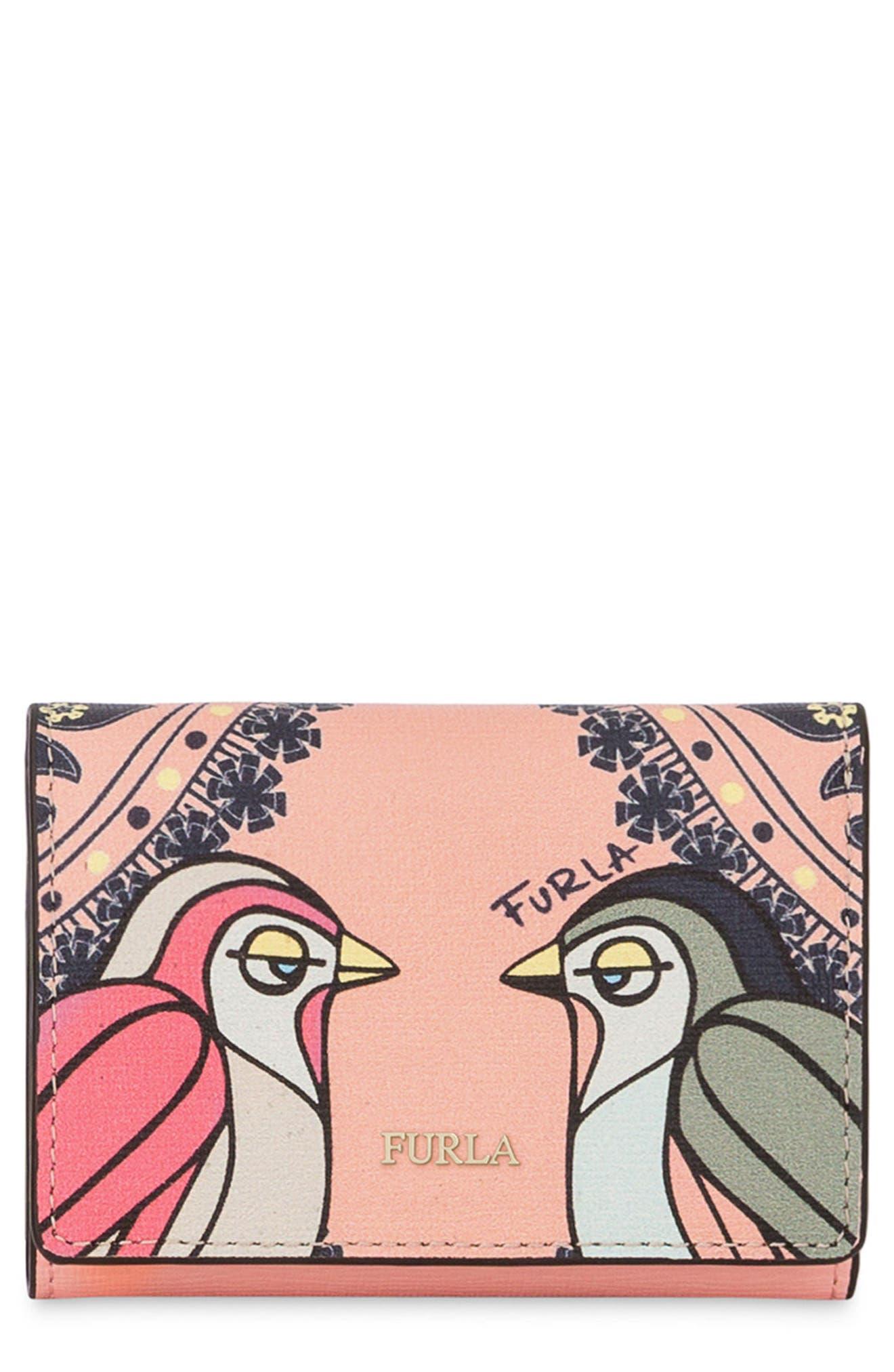 Main Image - Furla Babylon Saffiano Leather Trifold Wallet
