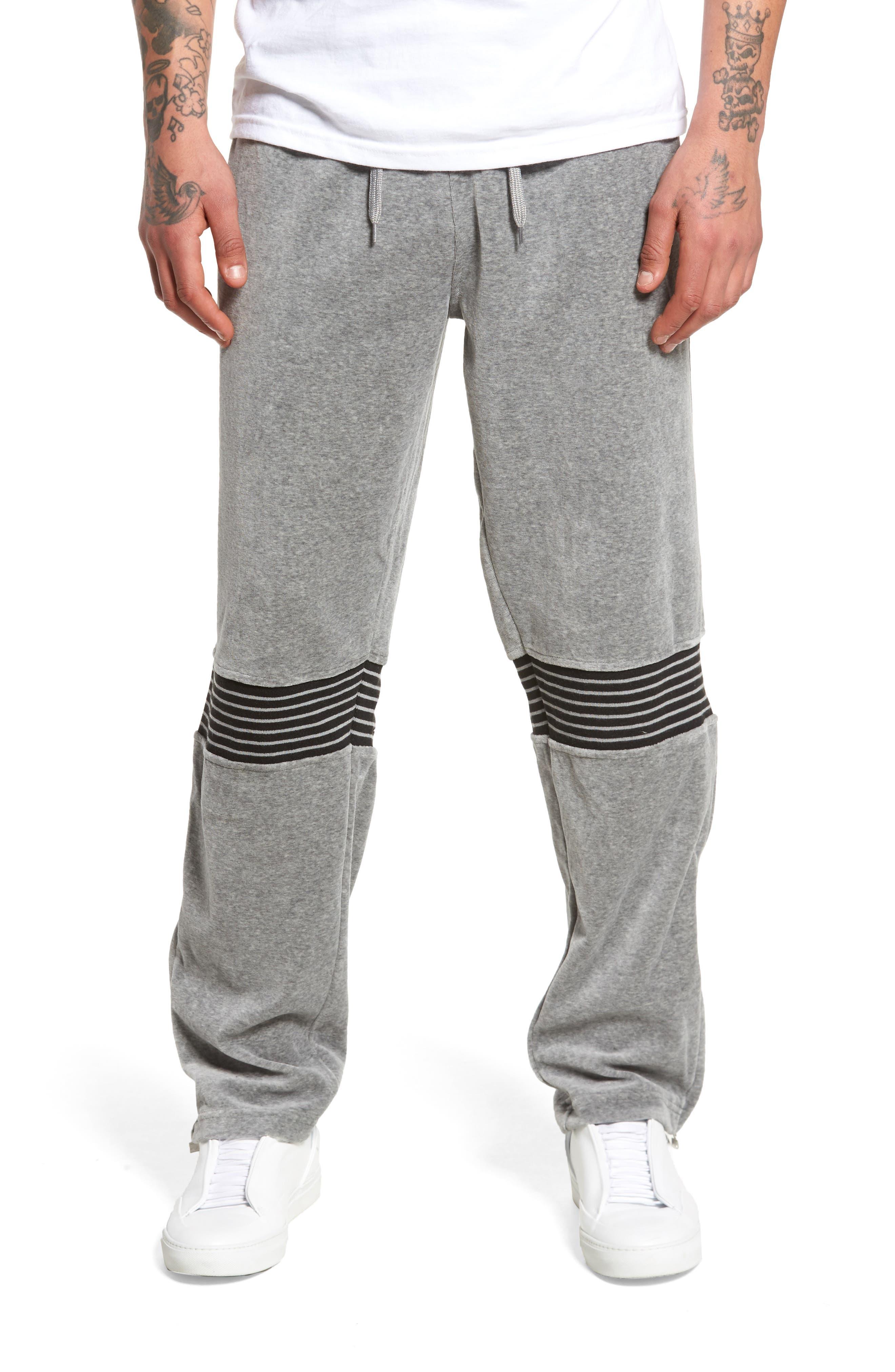 Marcus Track Pants,                             Main thumbnail 1, color,                             Varsity Heather/ Iron/ White