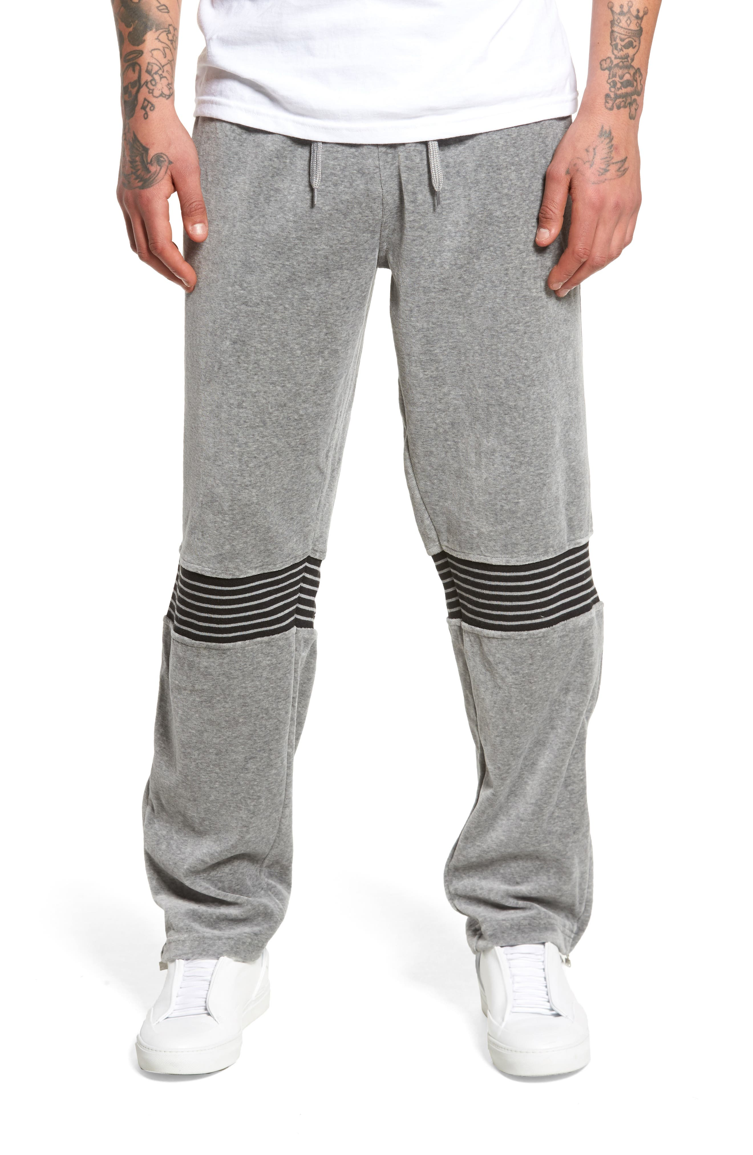 Marcus Track Pants,                         Main,                         color, Varsity Heather/ Iron/ White