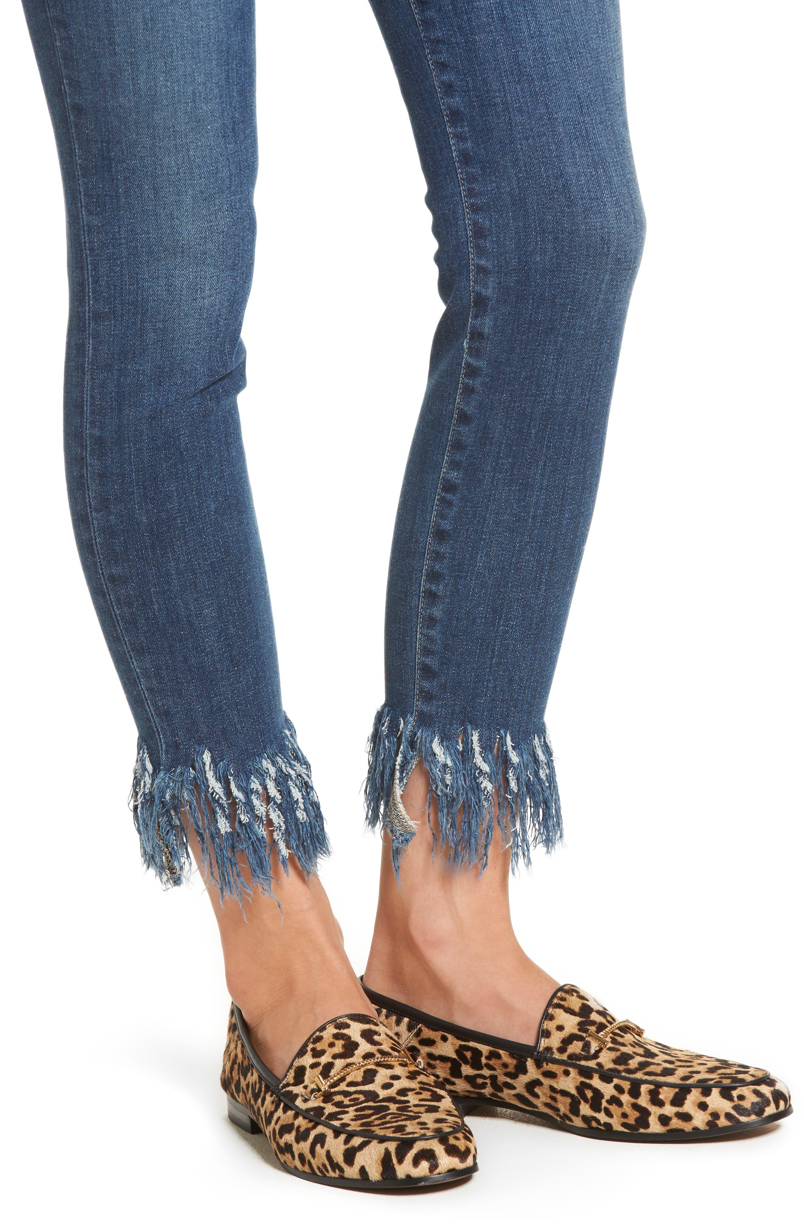 Icon Ankle Skinny Jeans,                             Alternate thumbnail 4, color,                             Ferra