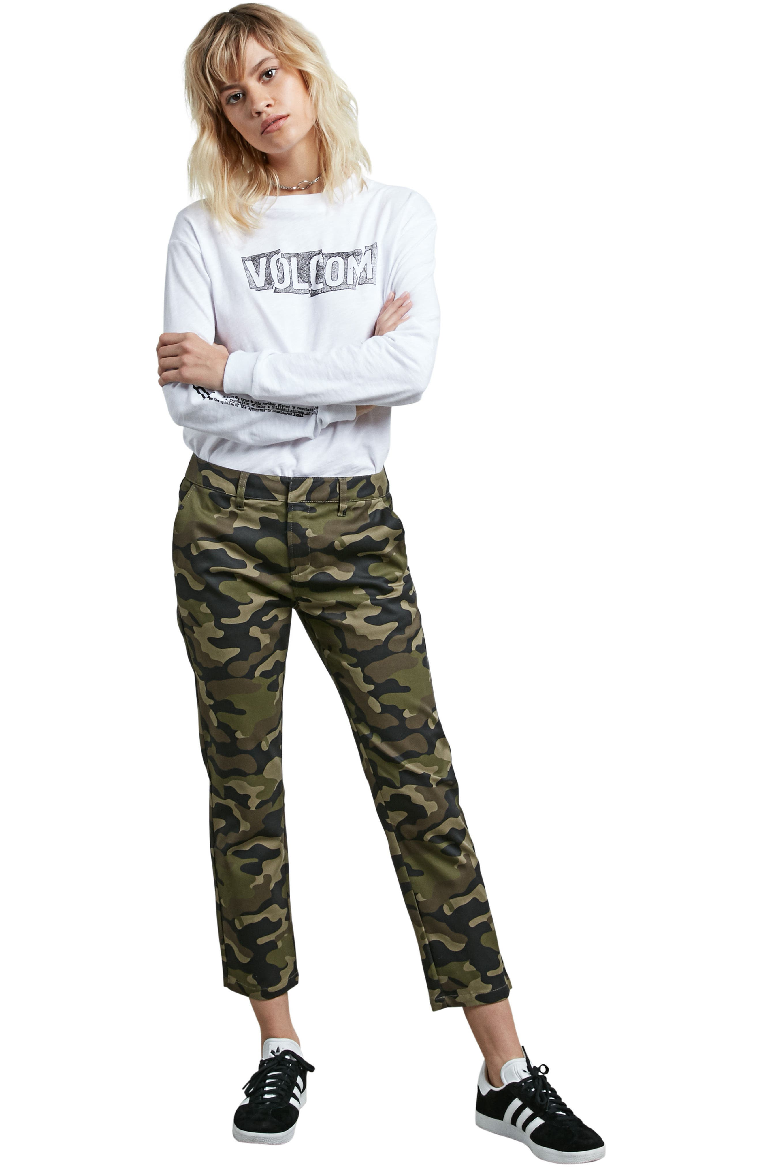 Frochickie Crop Pants,                             Alternate thumbnail 2, color,                             Dark Camo