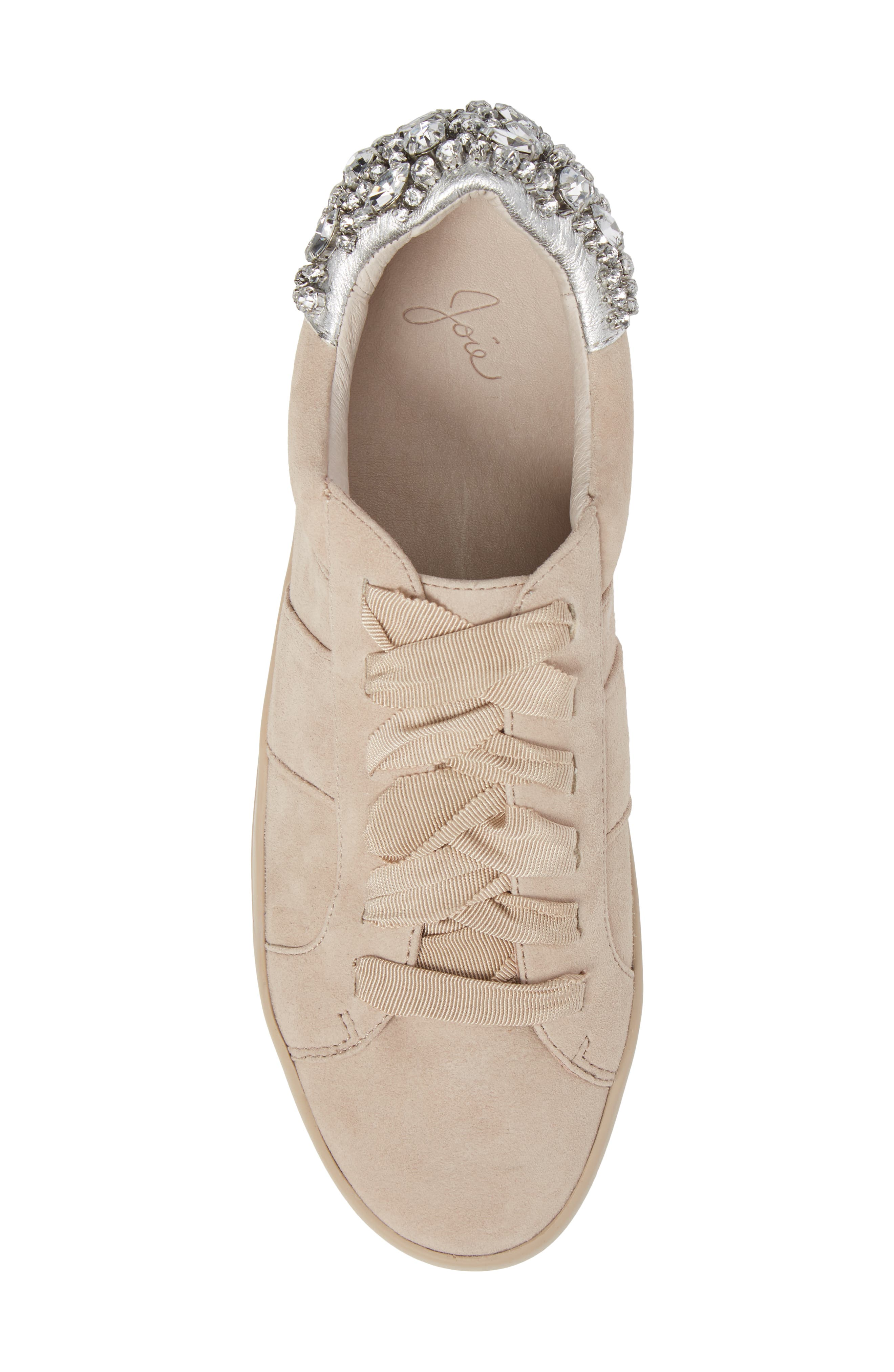 Darena Crystal Embellished Sneaker,                             Alternate thumbnail 5, color,                             Fog