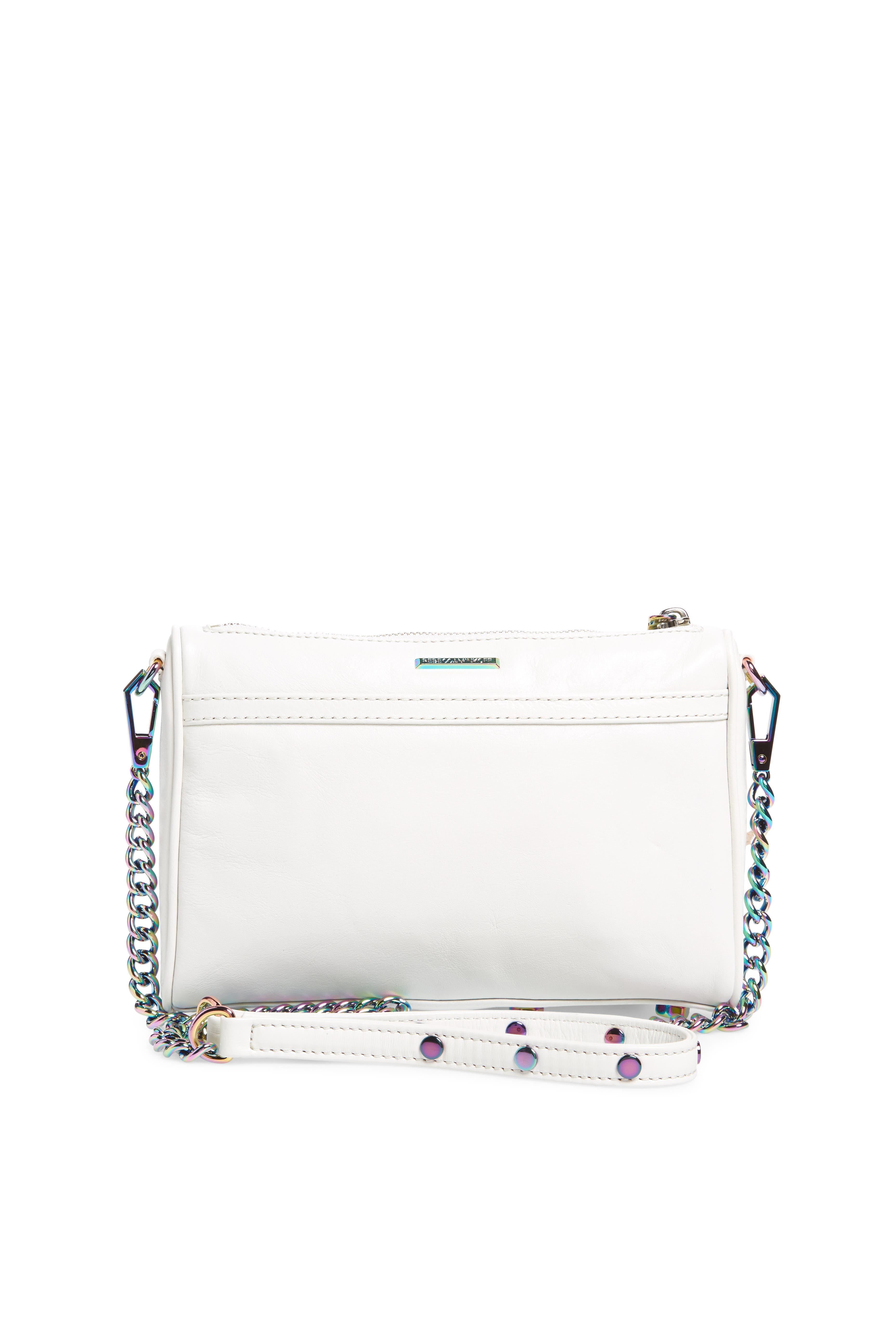 Mini MAC Convertible Crossbody Bag,                             Alternate thumbnail 3, color,                             Bianco