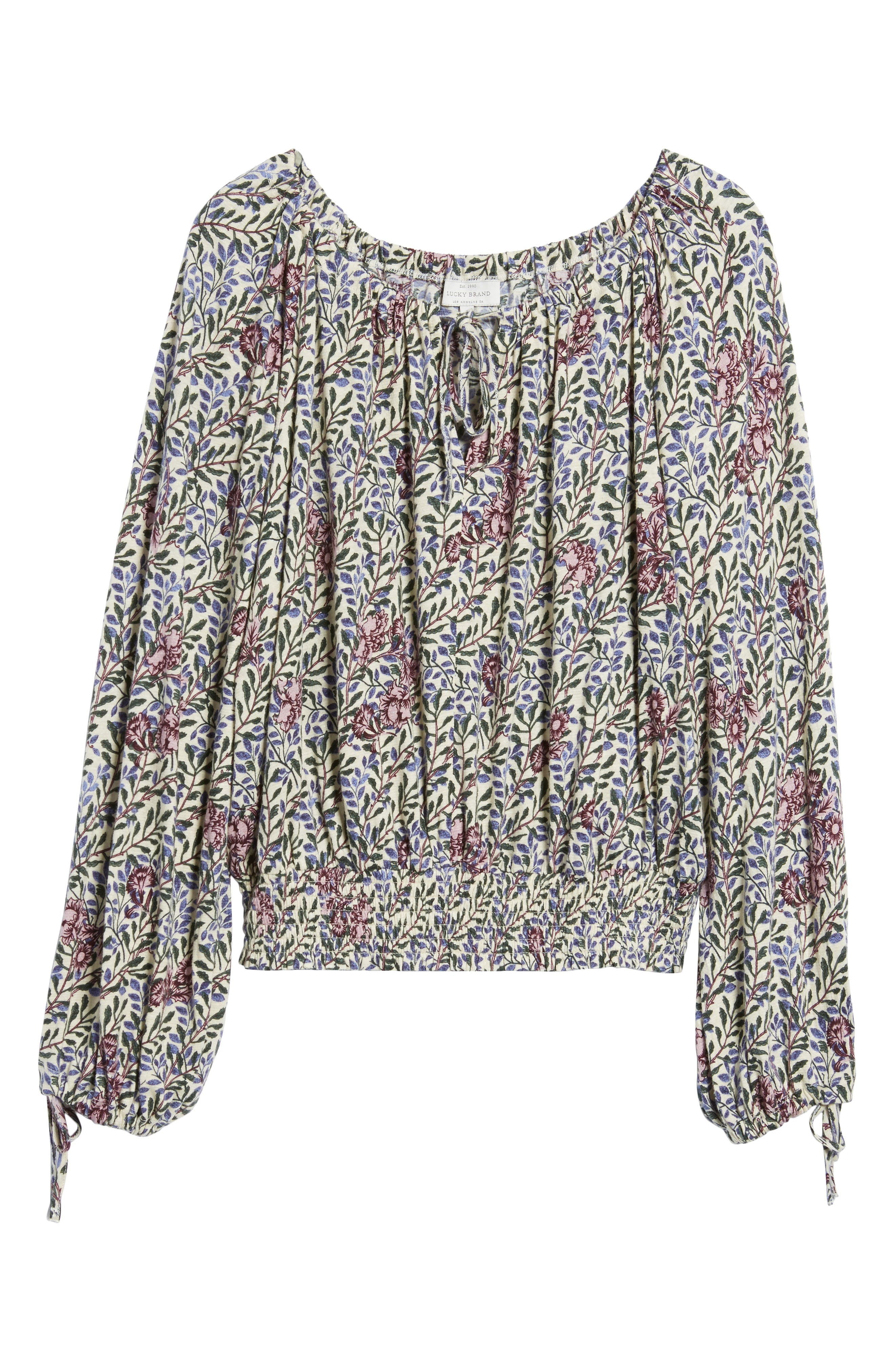 Alternate Image 6  - Lucky Brand Floral Peasant Top