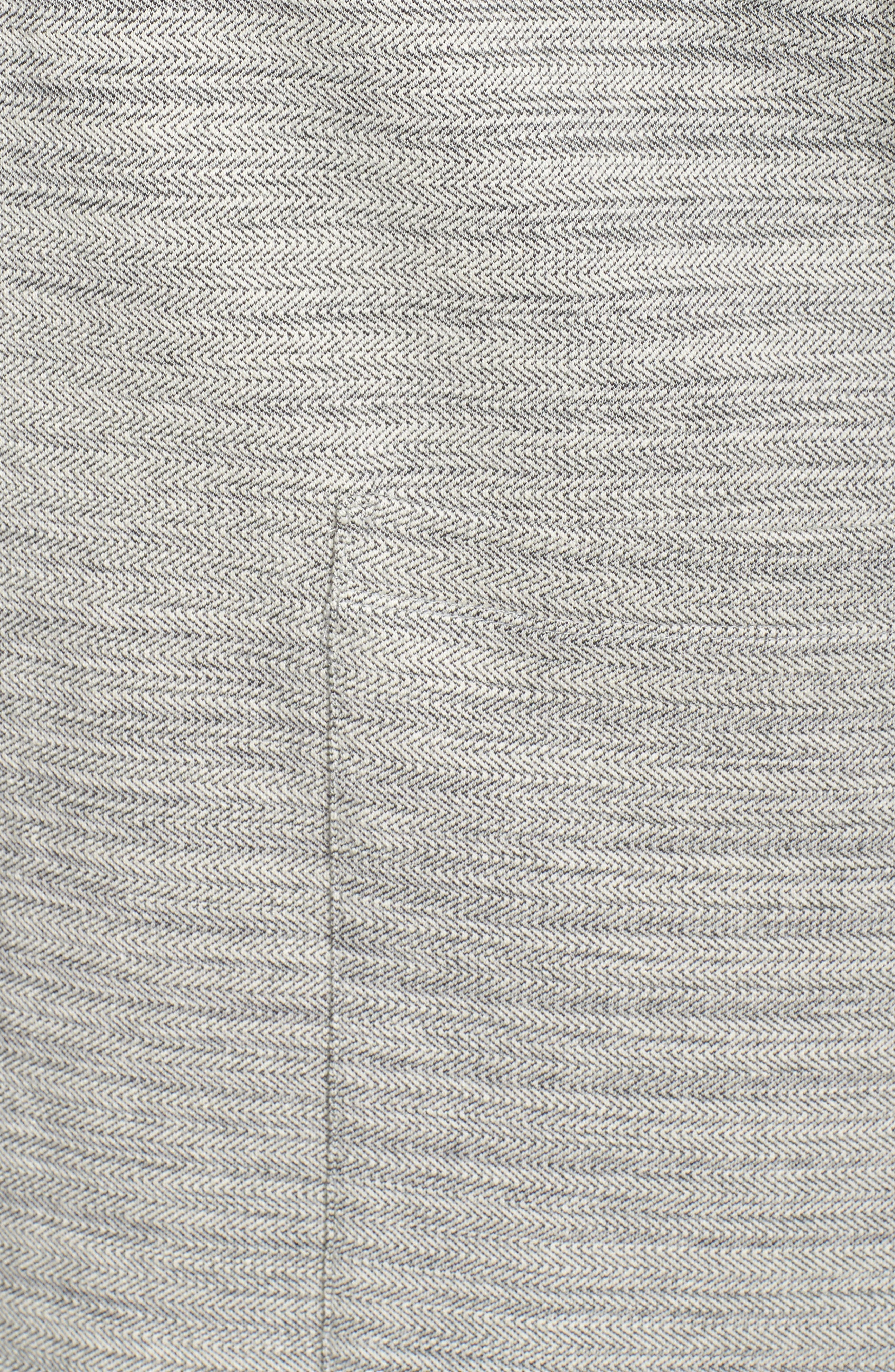 Cotton Blend Tweed Jacket,                             Alternate thumbnail 5, color,                             Dark Pearl