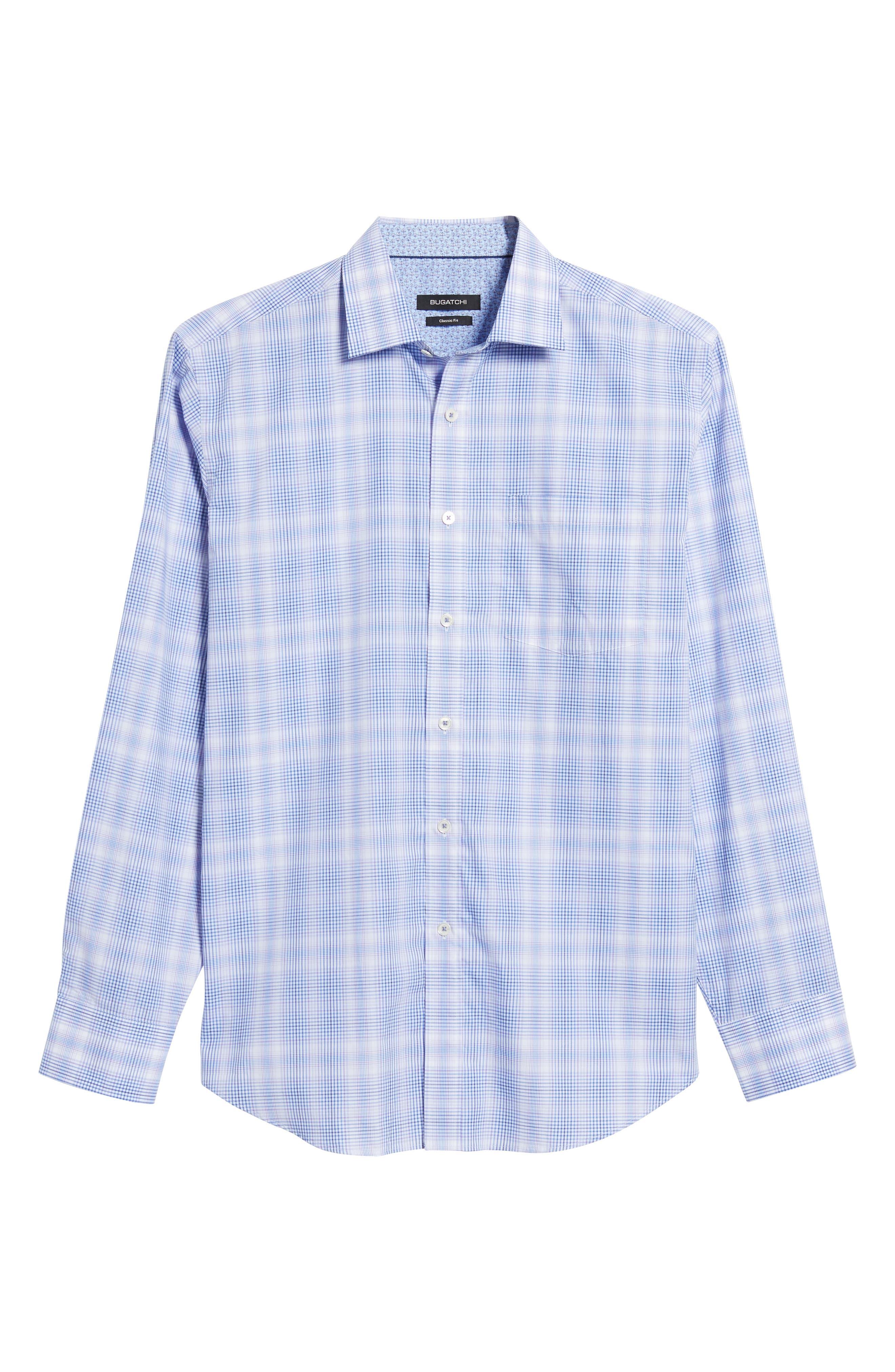 Classic Fit Plaid Sport Shirt,                             Alternate thumbnail 6, color,                             Lilac