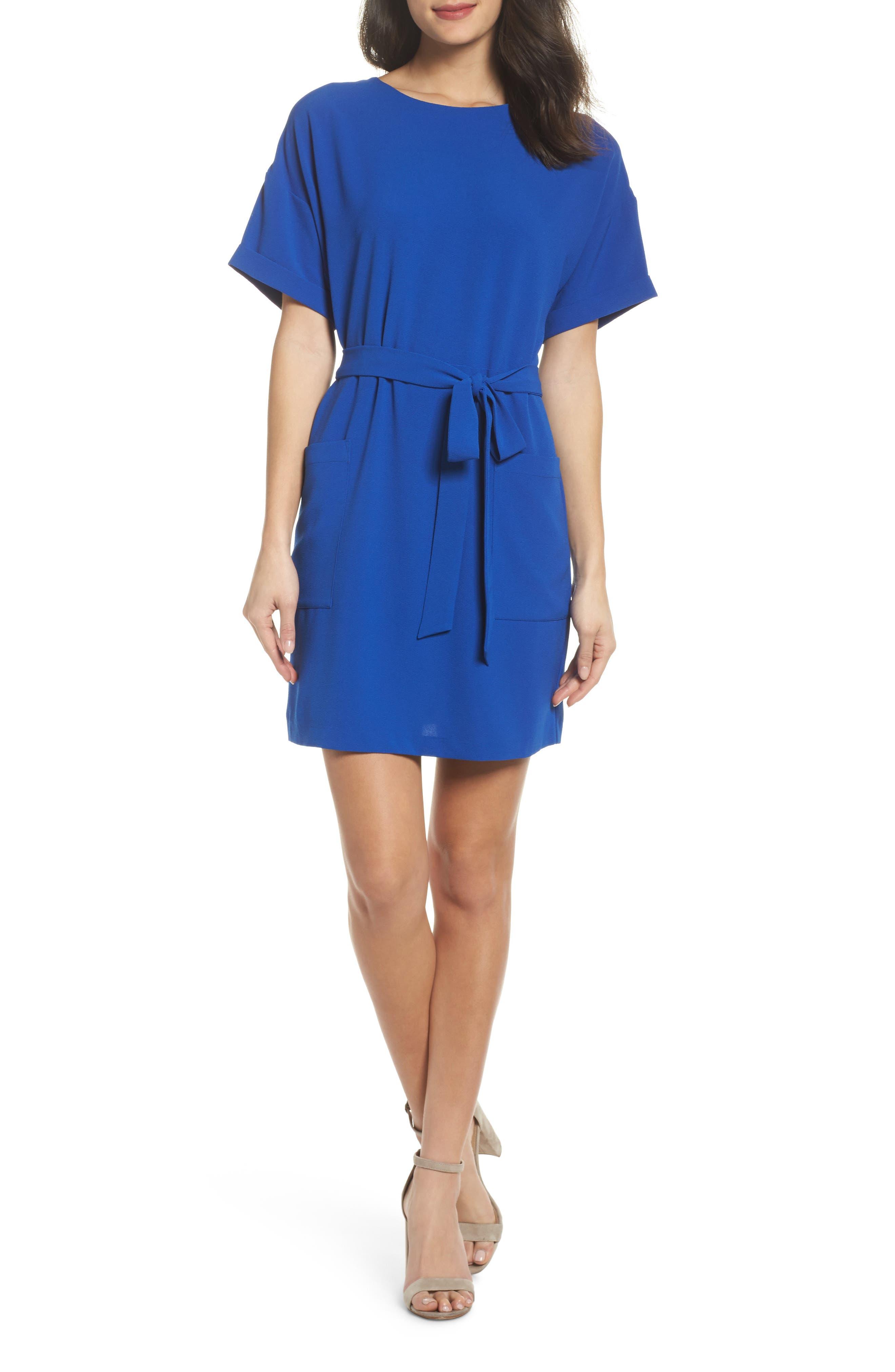 Alternate Image 1 Selected - Felicity & Coco Halia Tie Waist Dress (Regular & Petite)