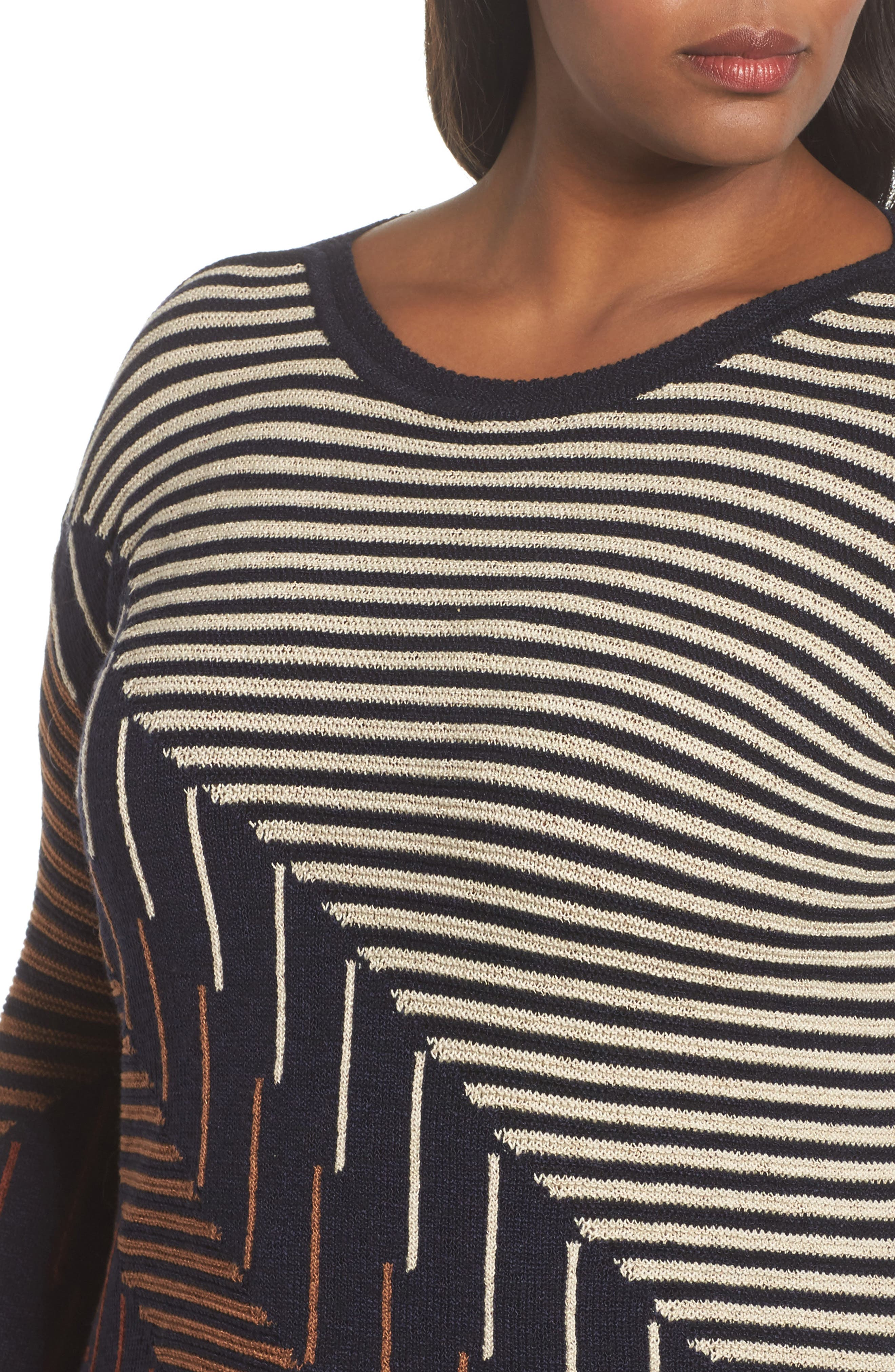 Alternate Image 4  - NIC+ZOE Lagoon Sweater (Plus Size)