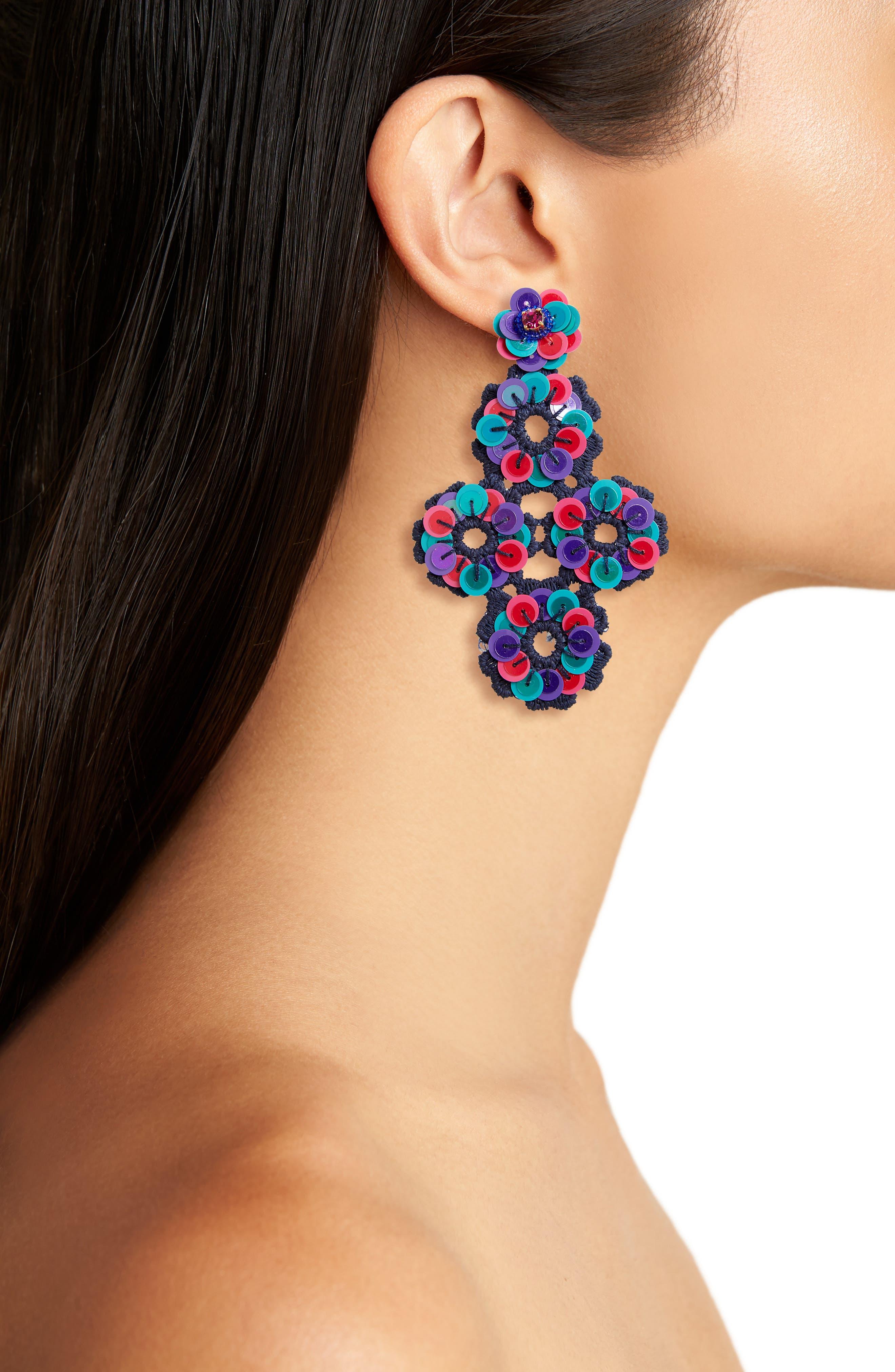 Alternate Image 2  - kate spade new york posy grove sequin statement earrings