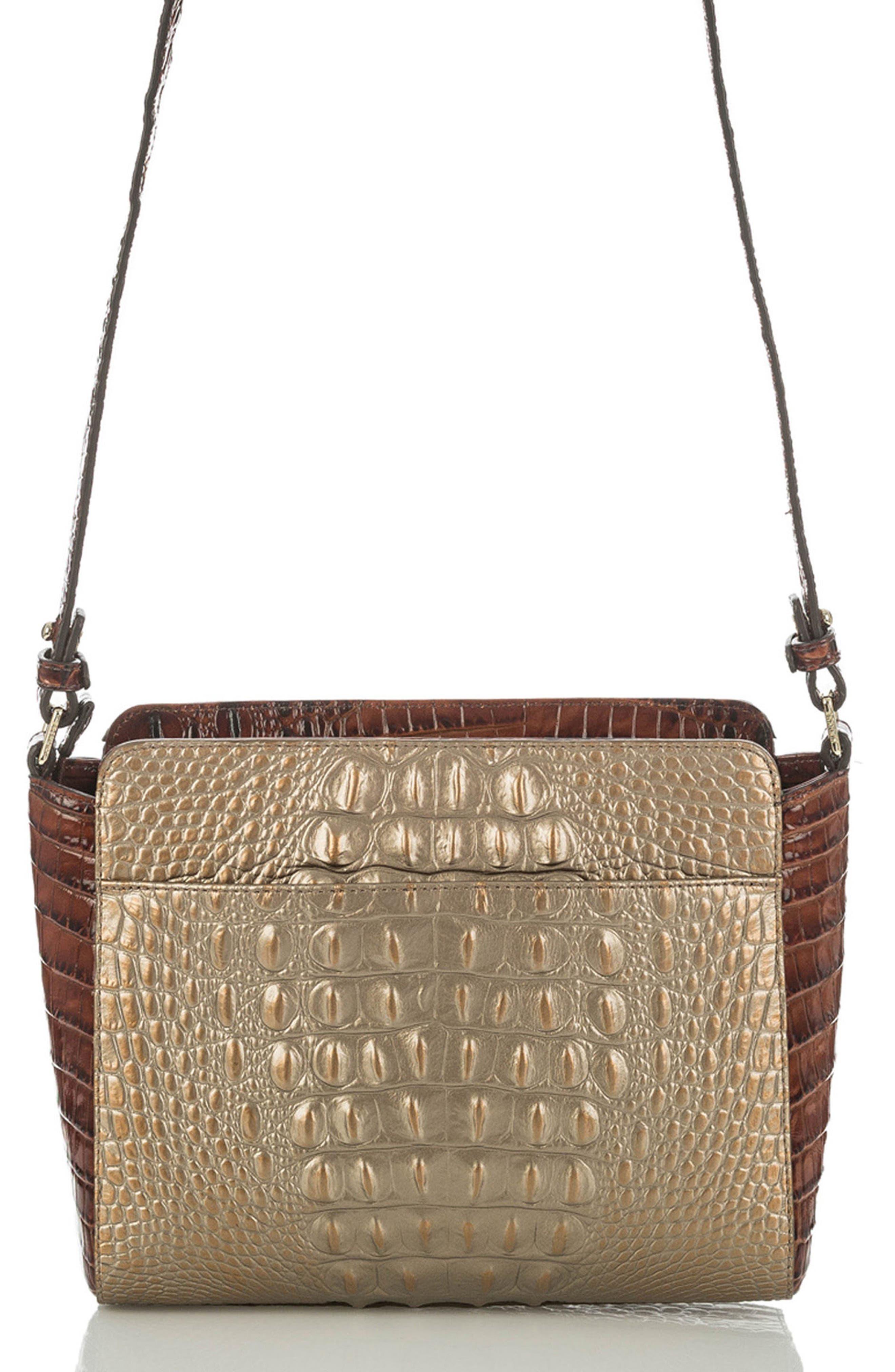 Alternate Image 2  - Brahmin Carrie Croc-Embossed Leather Crossbody Bag
